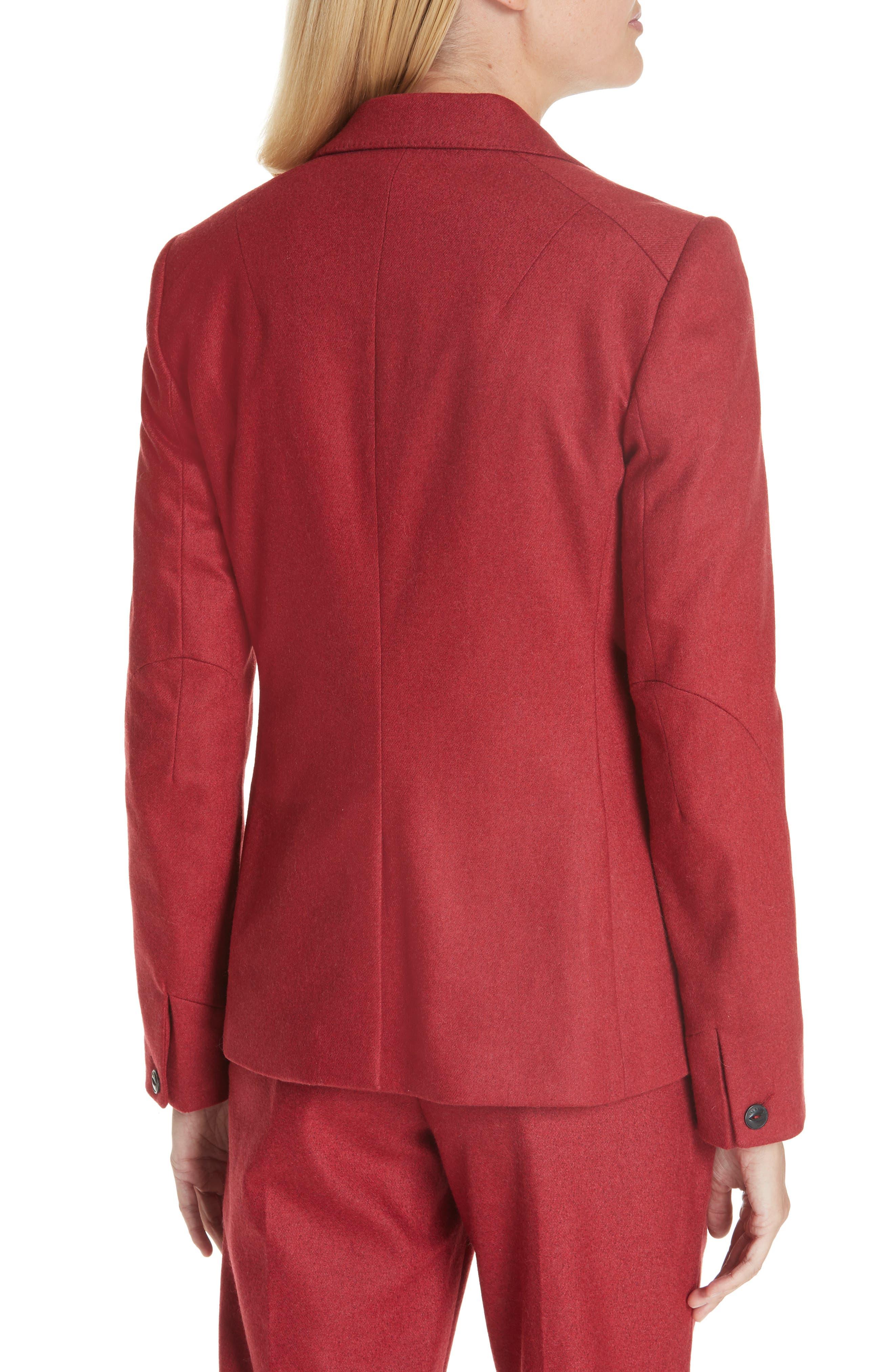 Lexington Wool Blend Blazer,                             Main thumbnail 1, color,                             RED MELANGE