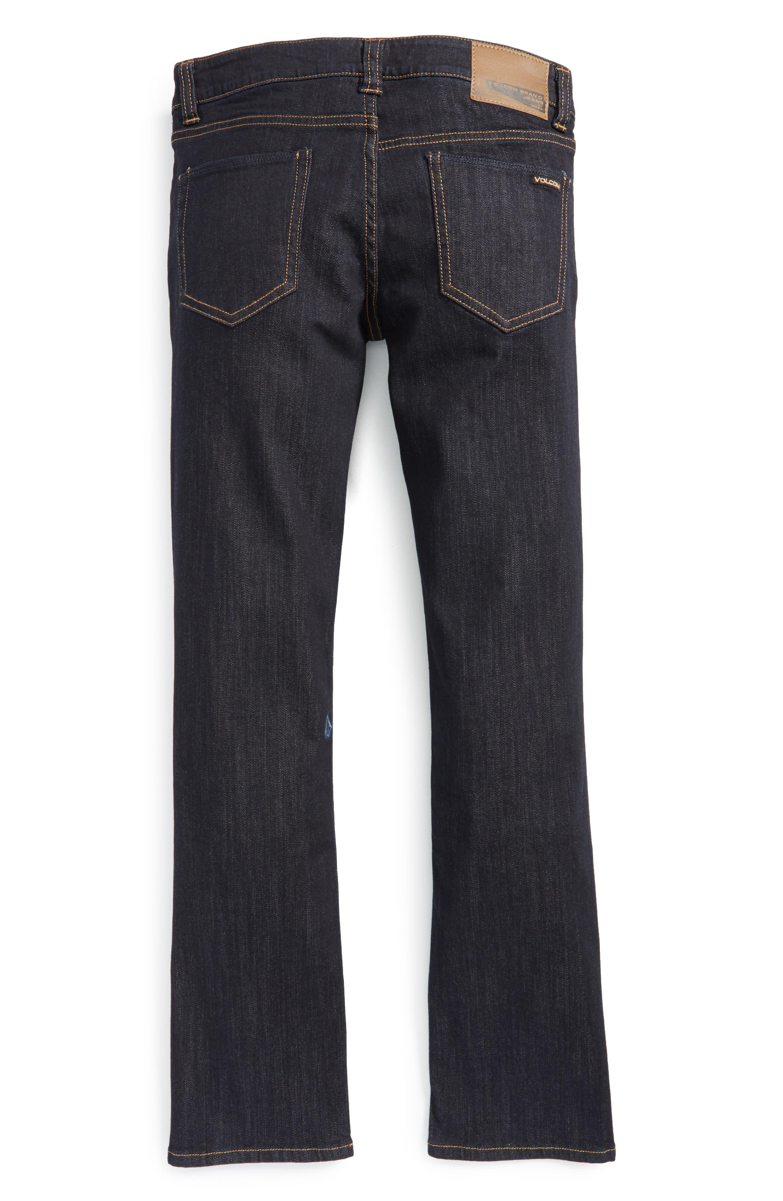 Vorta Slim Fit Jeans,                             Alternate thumbnail 3, color,                             BLUE RINSER