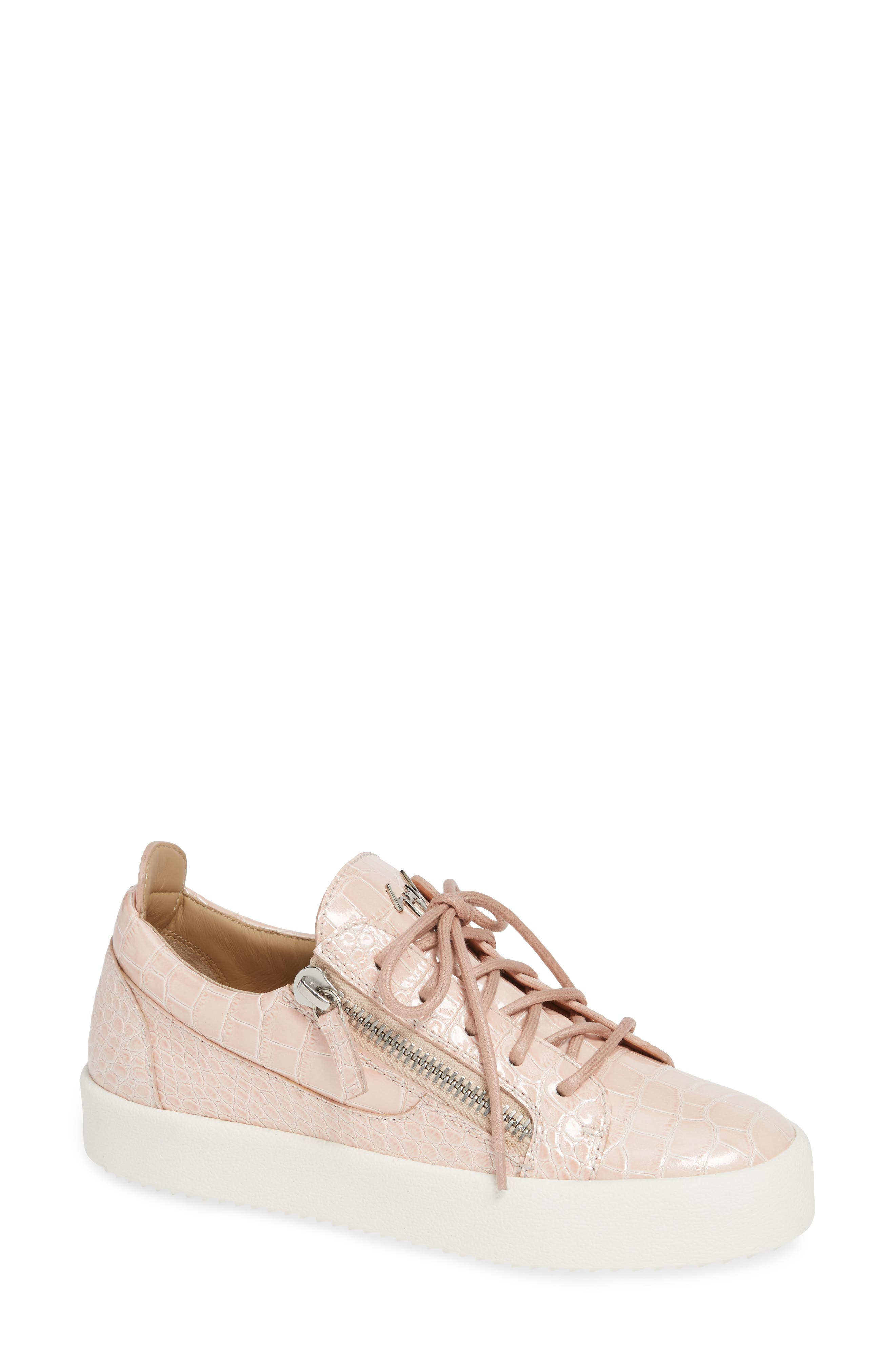Low Top Sneaker,                             Main thumbnail 1, color,                             NUDE PINK
