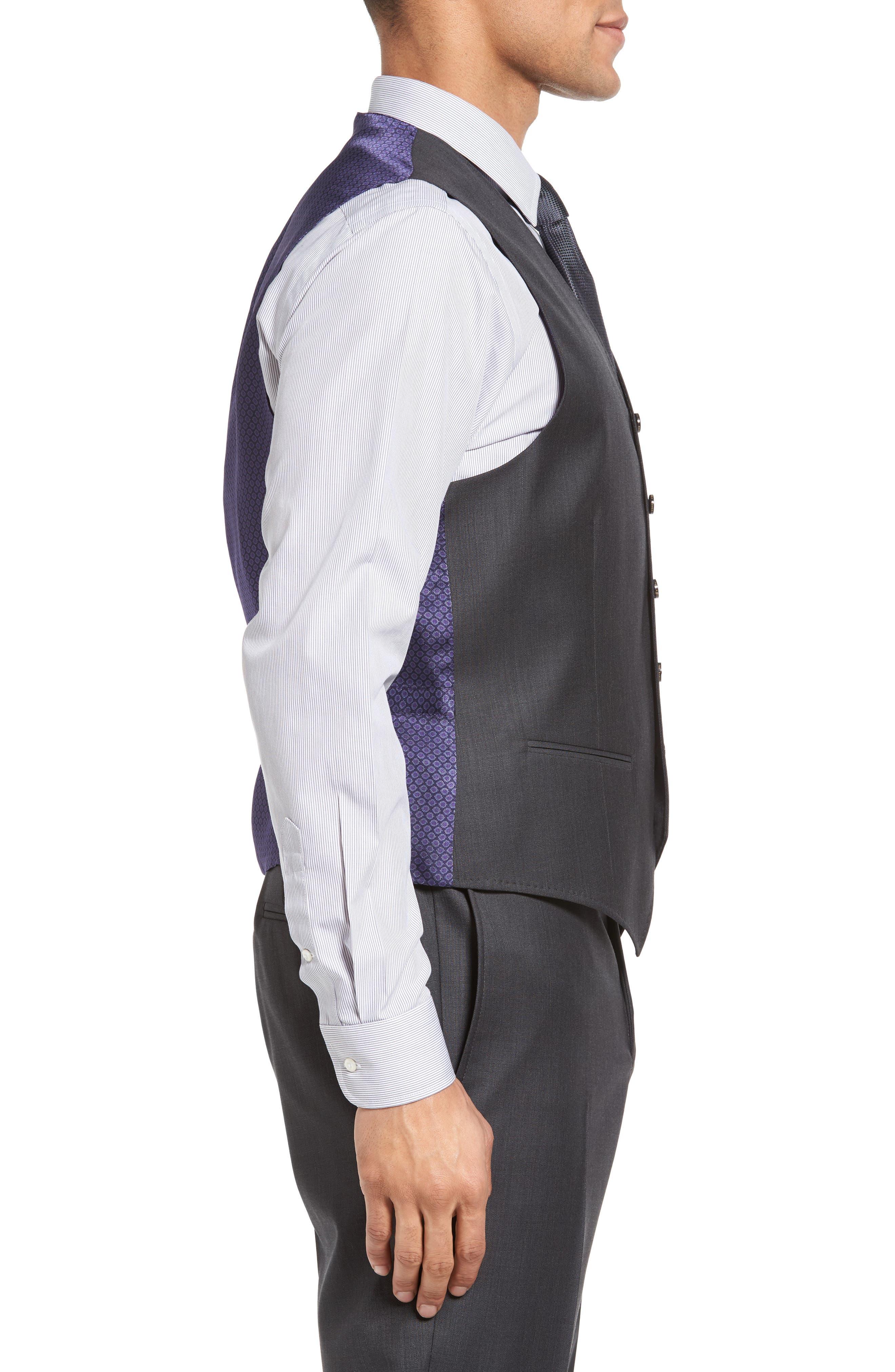 Jones Trim Fit Wool Vest,                             Alternate thumbnail 12, color,