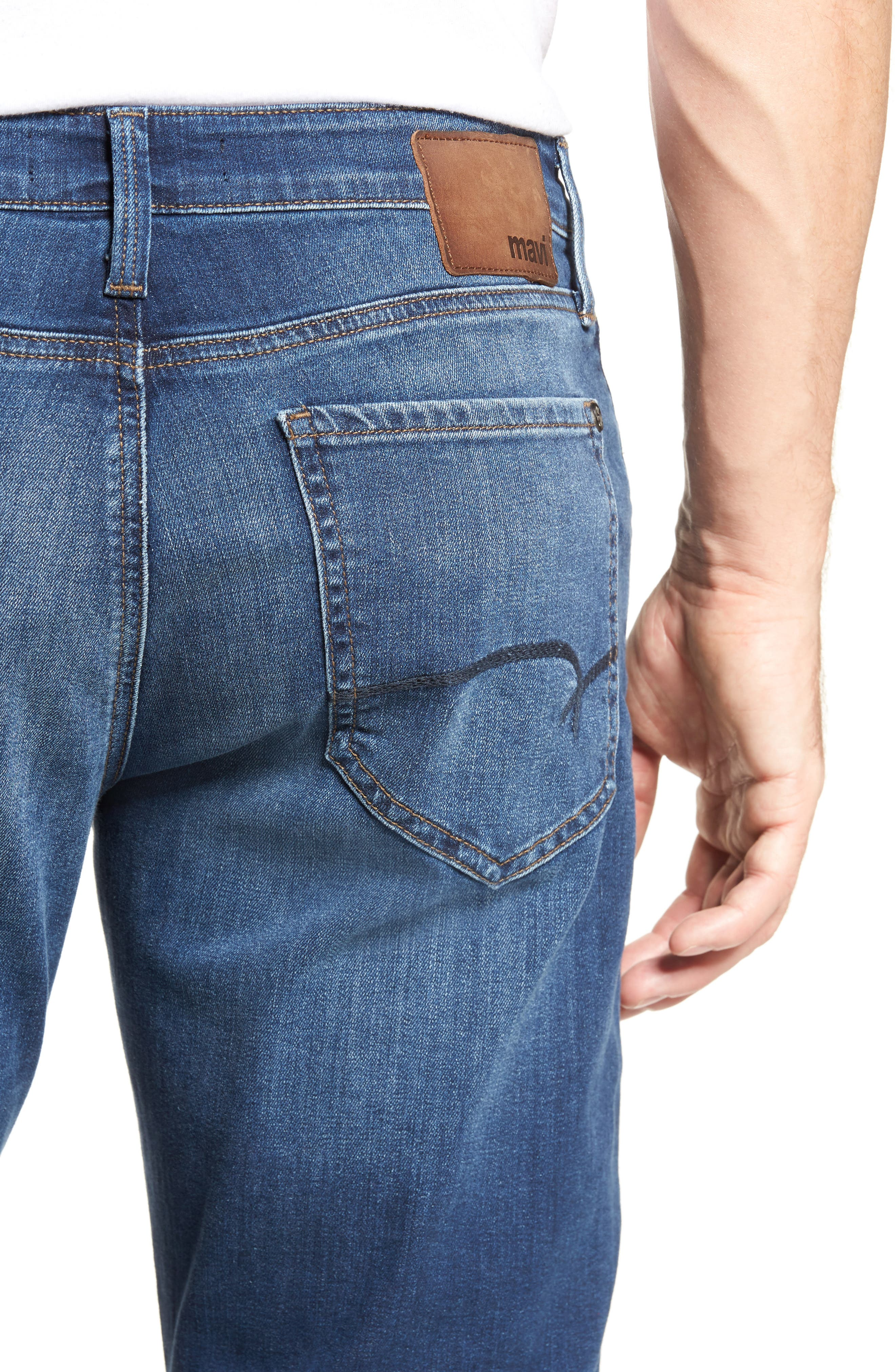 Myles Straight Fit Jeans,                             Alternate thumbnail 4, color,                             401