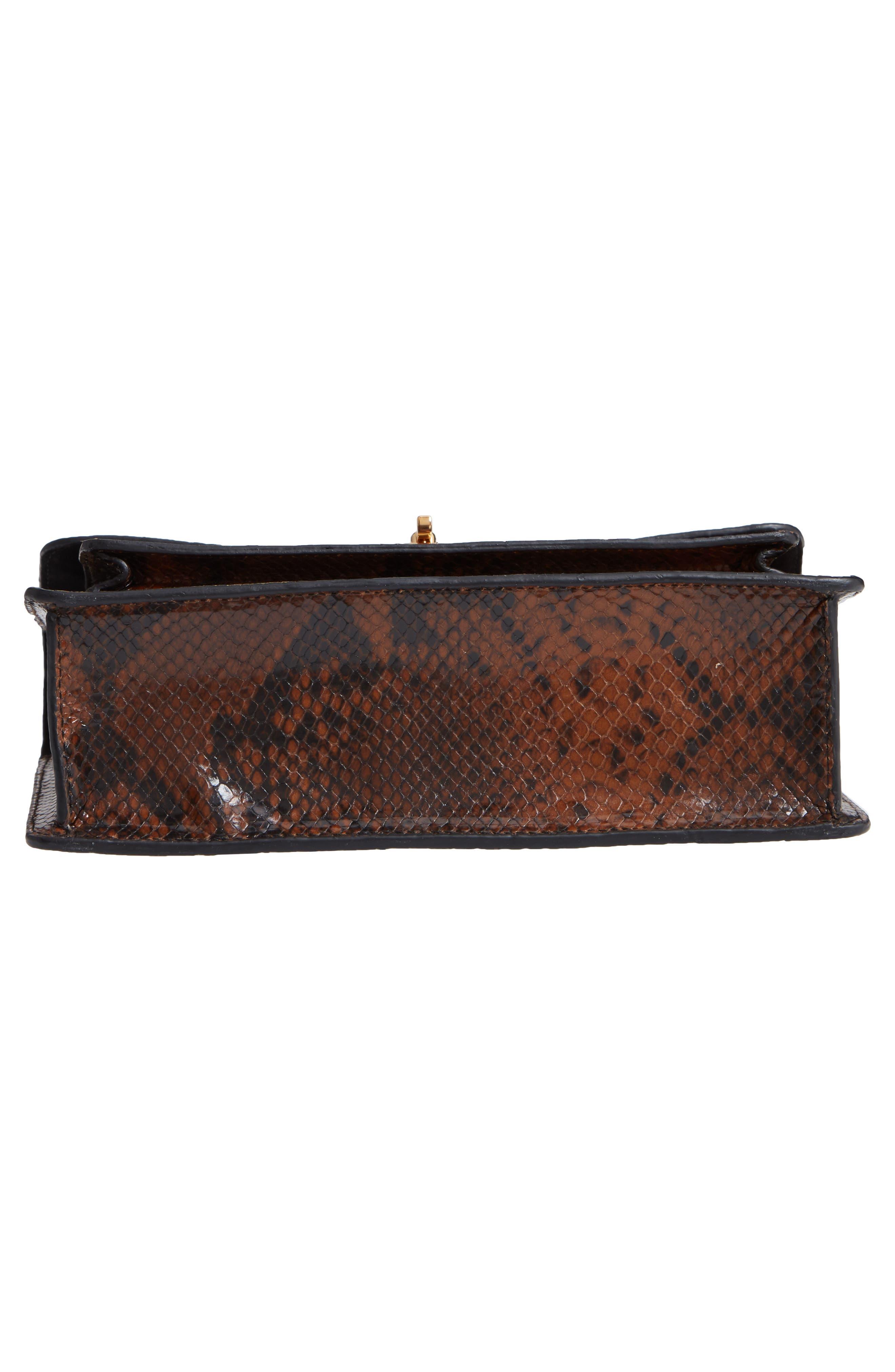 Croc Embossed Leather Shoulder Bag,                             Alternate thumbnail 6, color,                             200