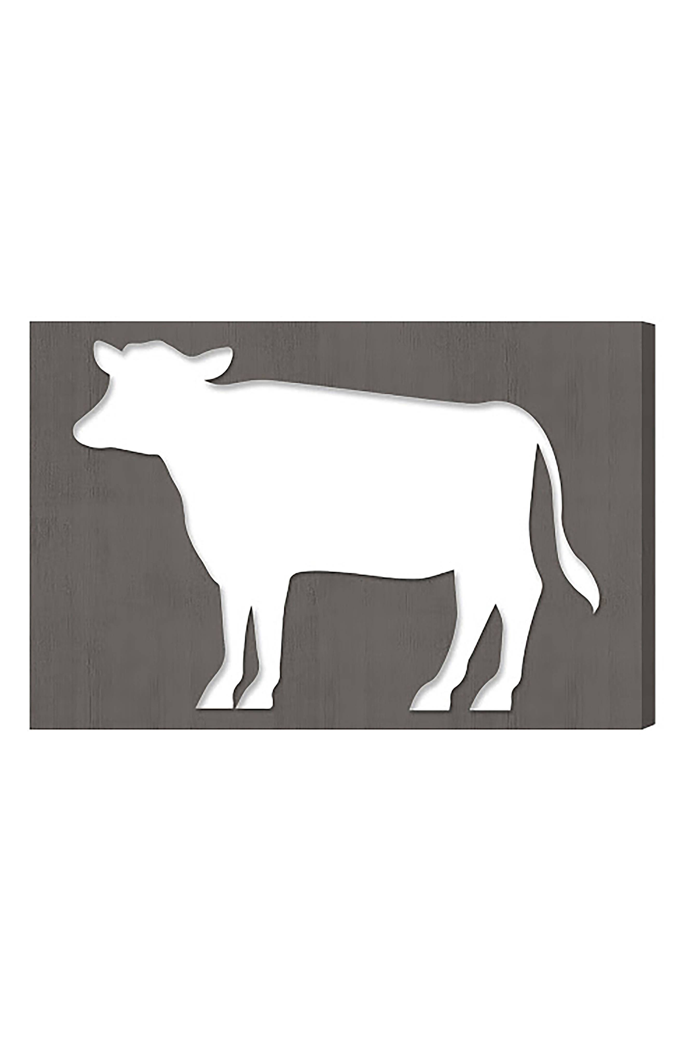 Cow Canvas Wall Art,                         Main,                         color,
