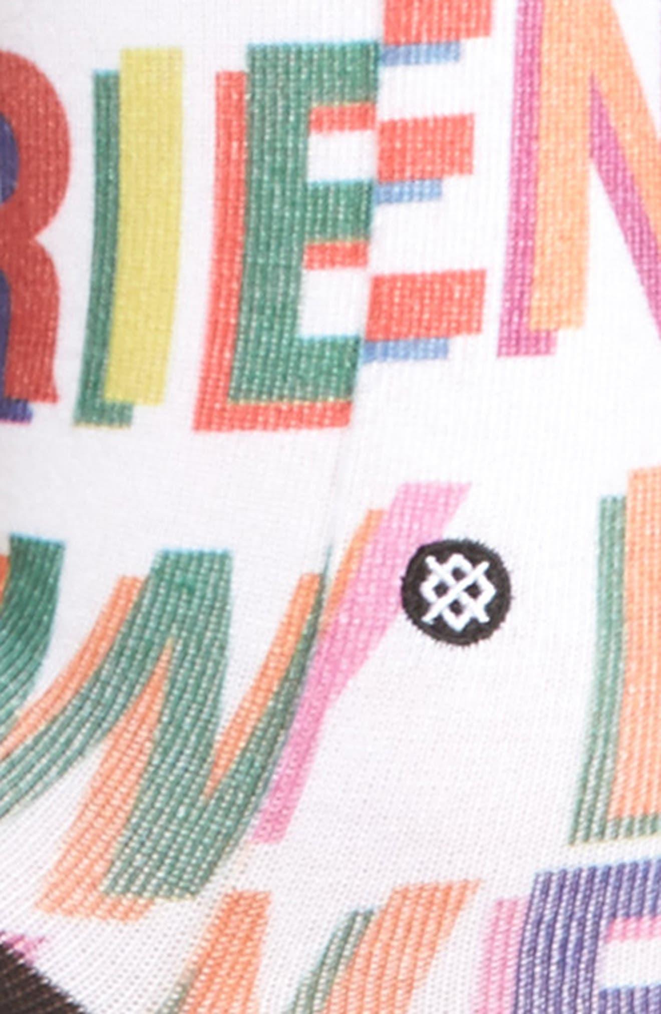 x Libertine Love Letters Crew Socks,                             Alternate thumbnail 2, color,
