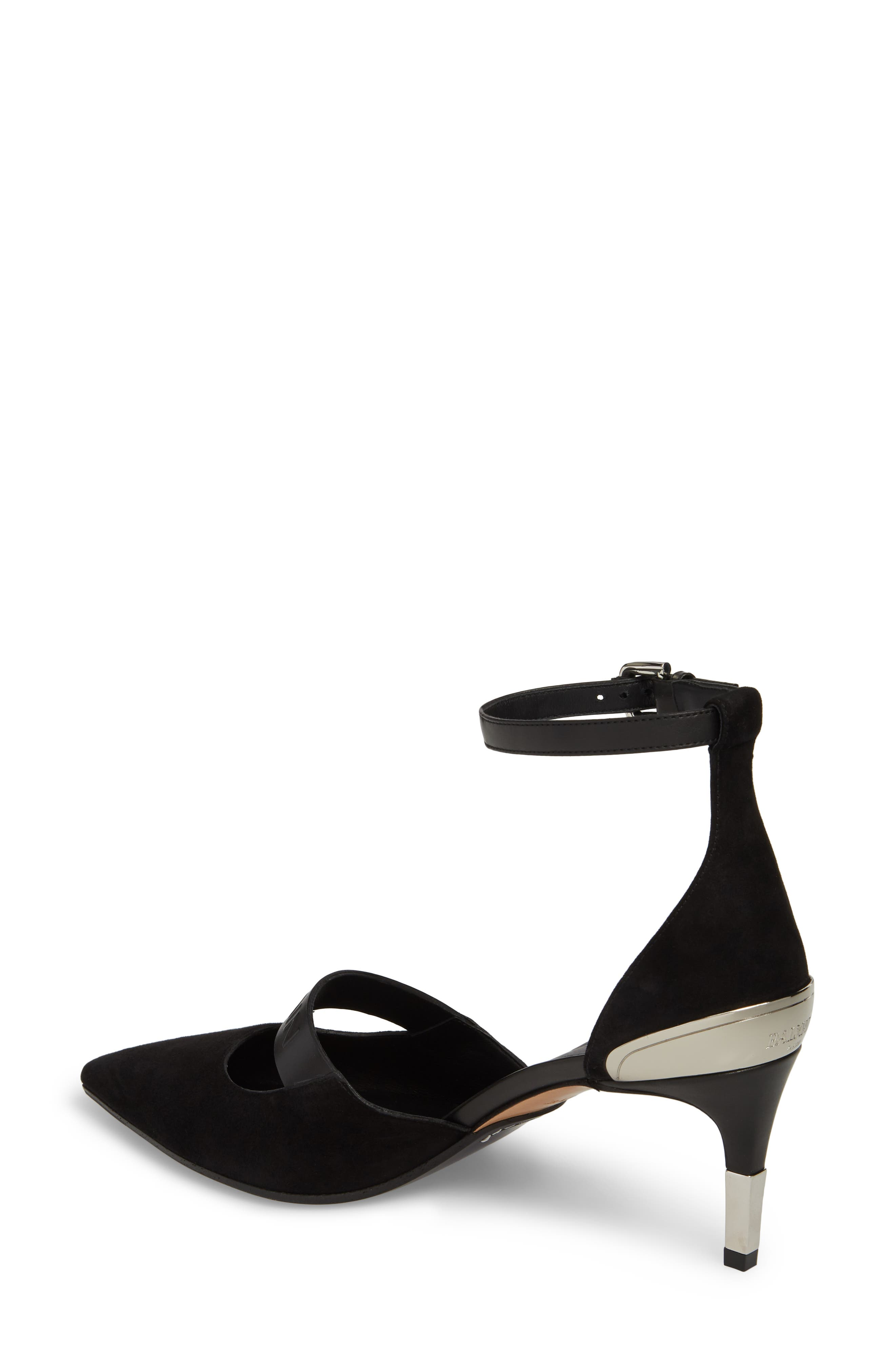 Chance Ankle Strap Pointy Toe Pump,                             Alternate thumbnail 2, color,                             001