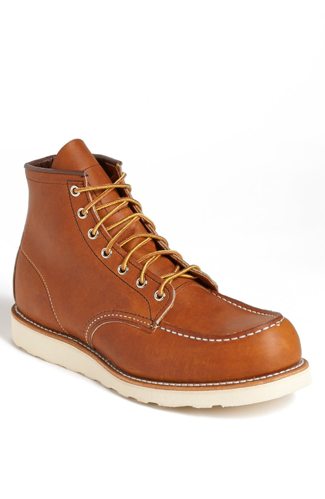 '875' 6 Inch Moc Toe Boot,                             Main thumbnail 1, color,                             200