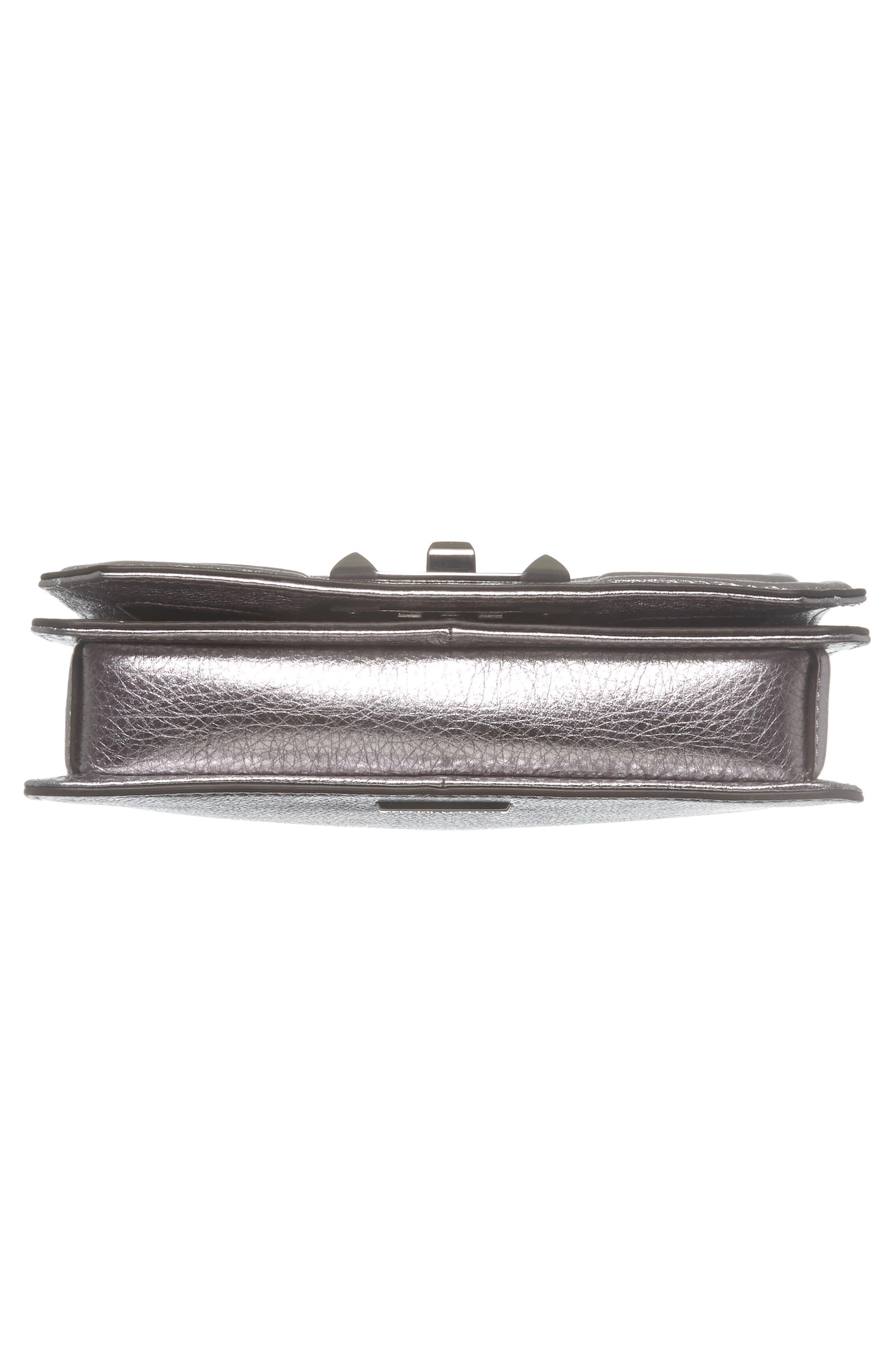 Small Love Metallic Leather Crossbody Bag,                             Alternate thumbnail 16, color,