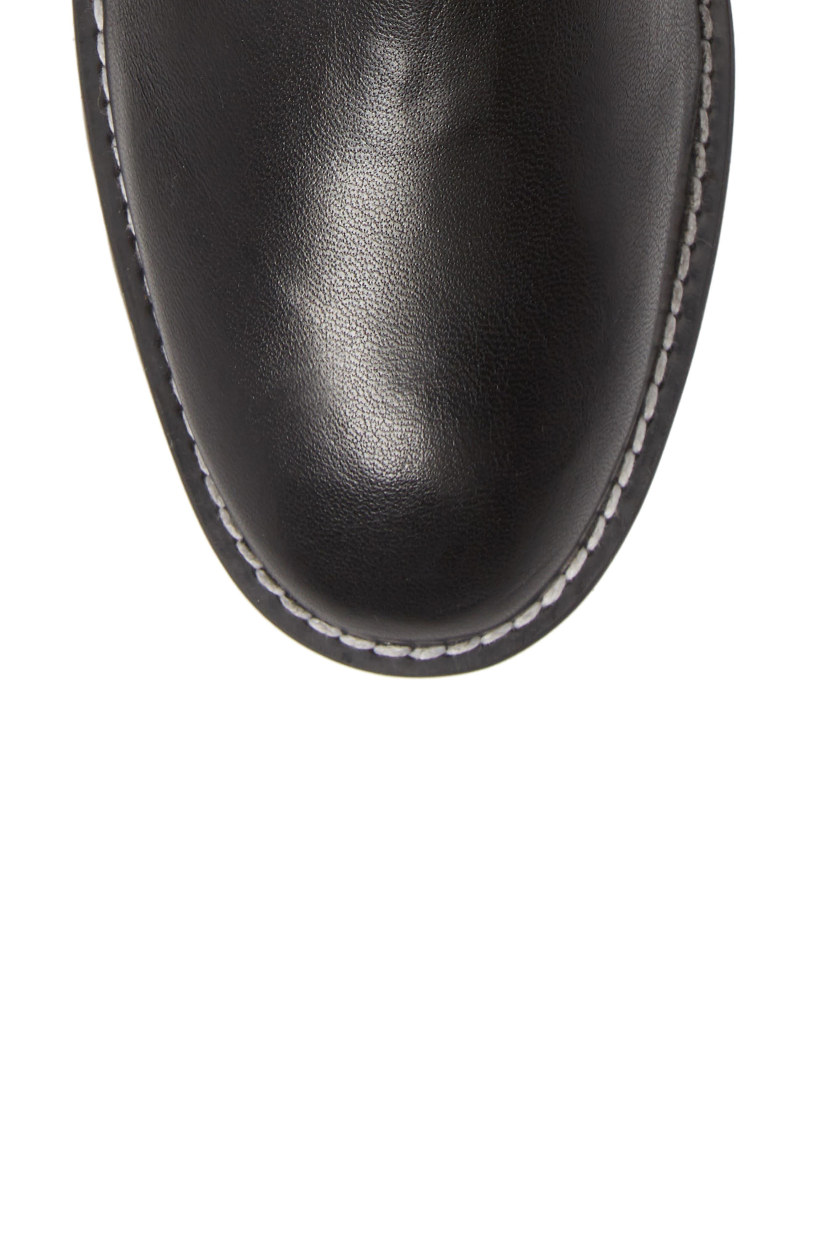 Renata Genuine Shearling Boot,                             Alternate thumbnail 6, color,                             BLACK ANDORRA