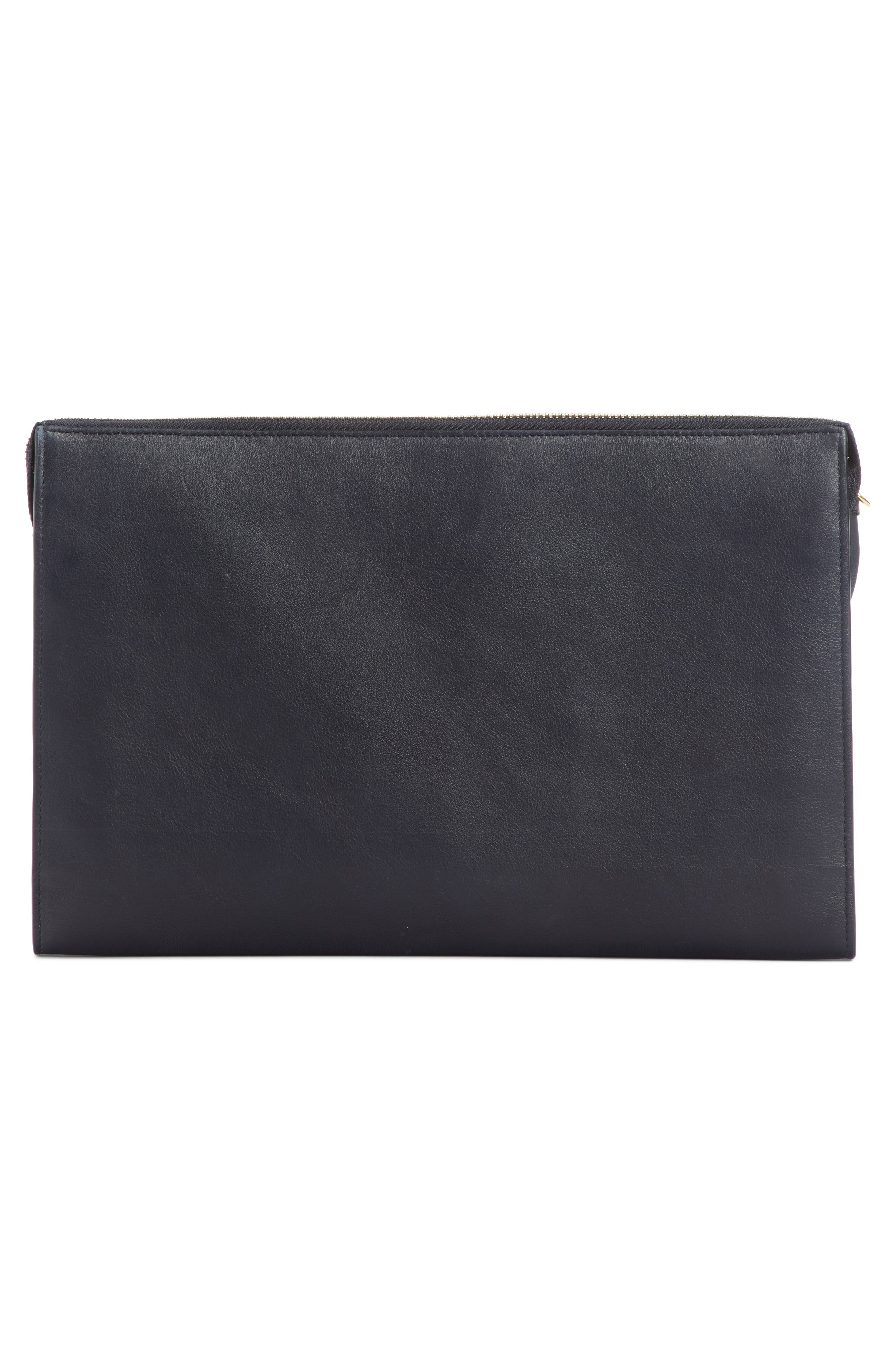 Vick Leather Zip Pouch,                             Alternate thumbnail 2, color,                             FULL BLUE