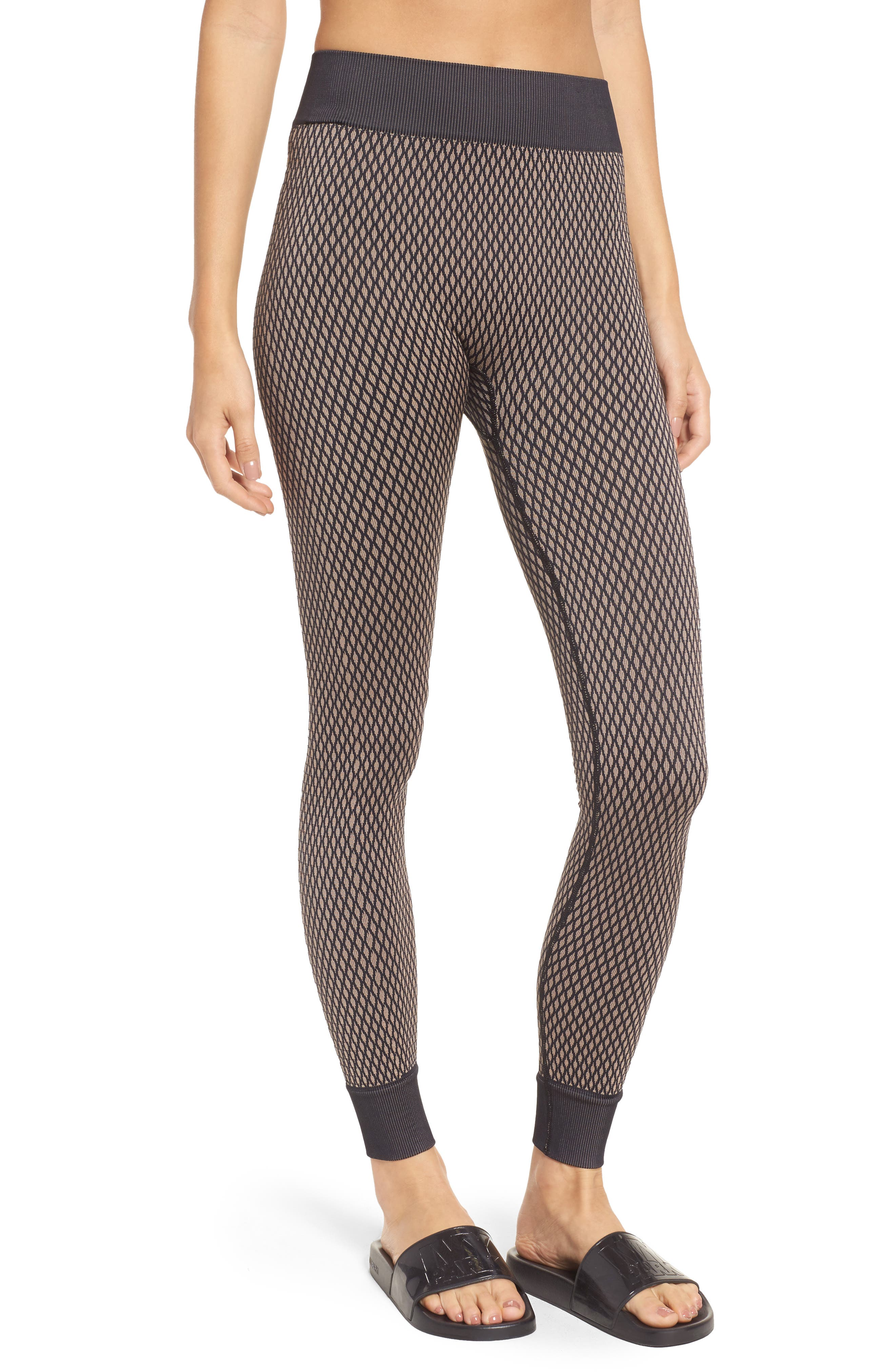 Fishnet Seamless Leggings,                             Main thumbnail 1, color,                             001