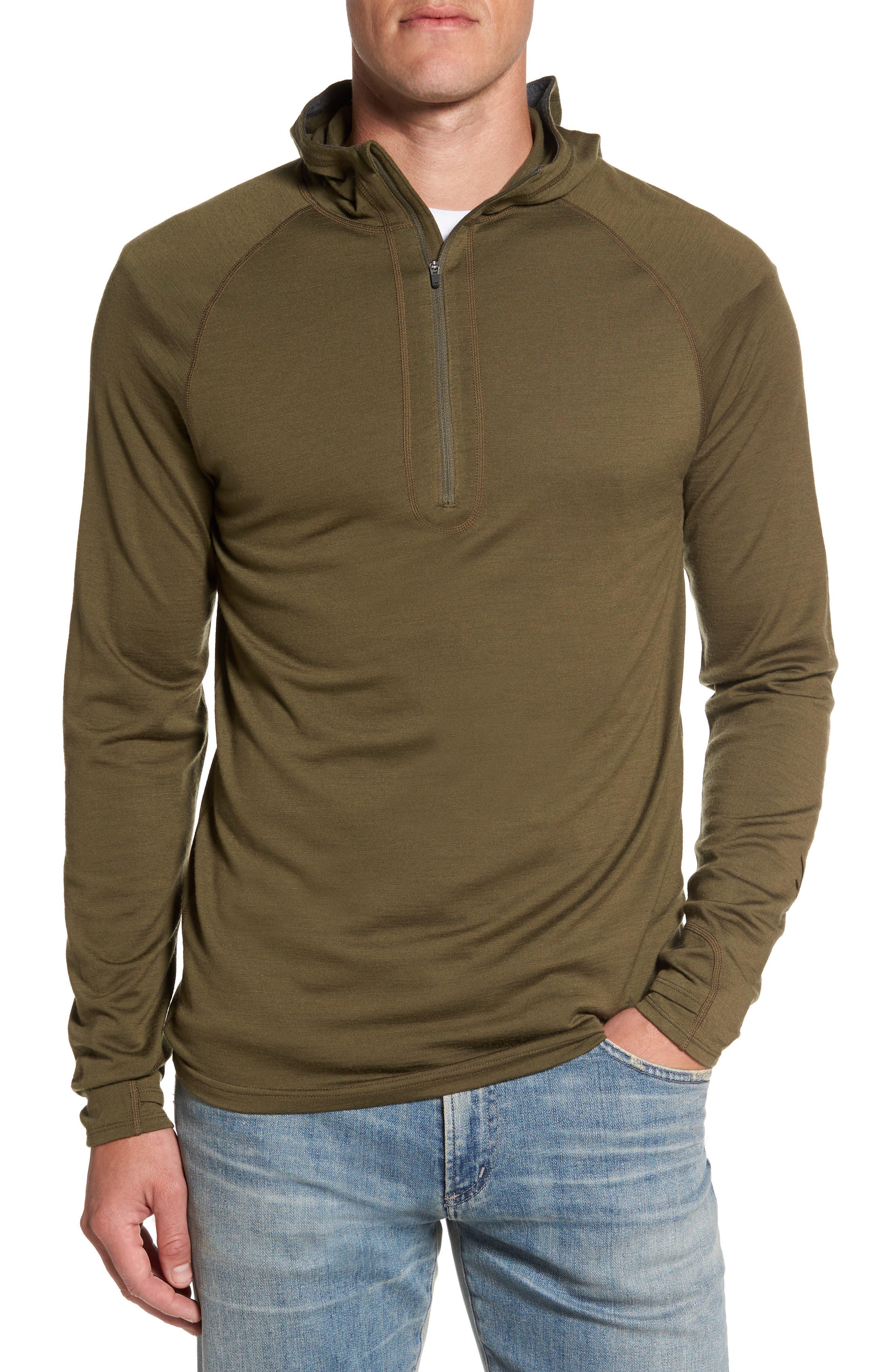 'Indie' Merino Wool Quarter Zip Hoodie,                             Main thumbnail 1, color,                             250