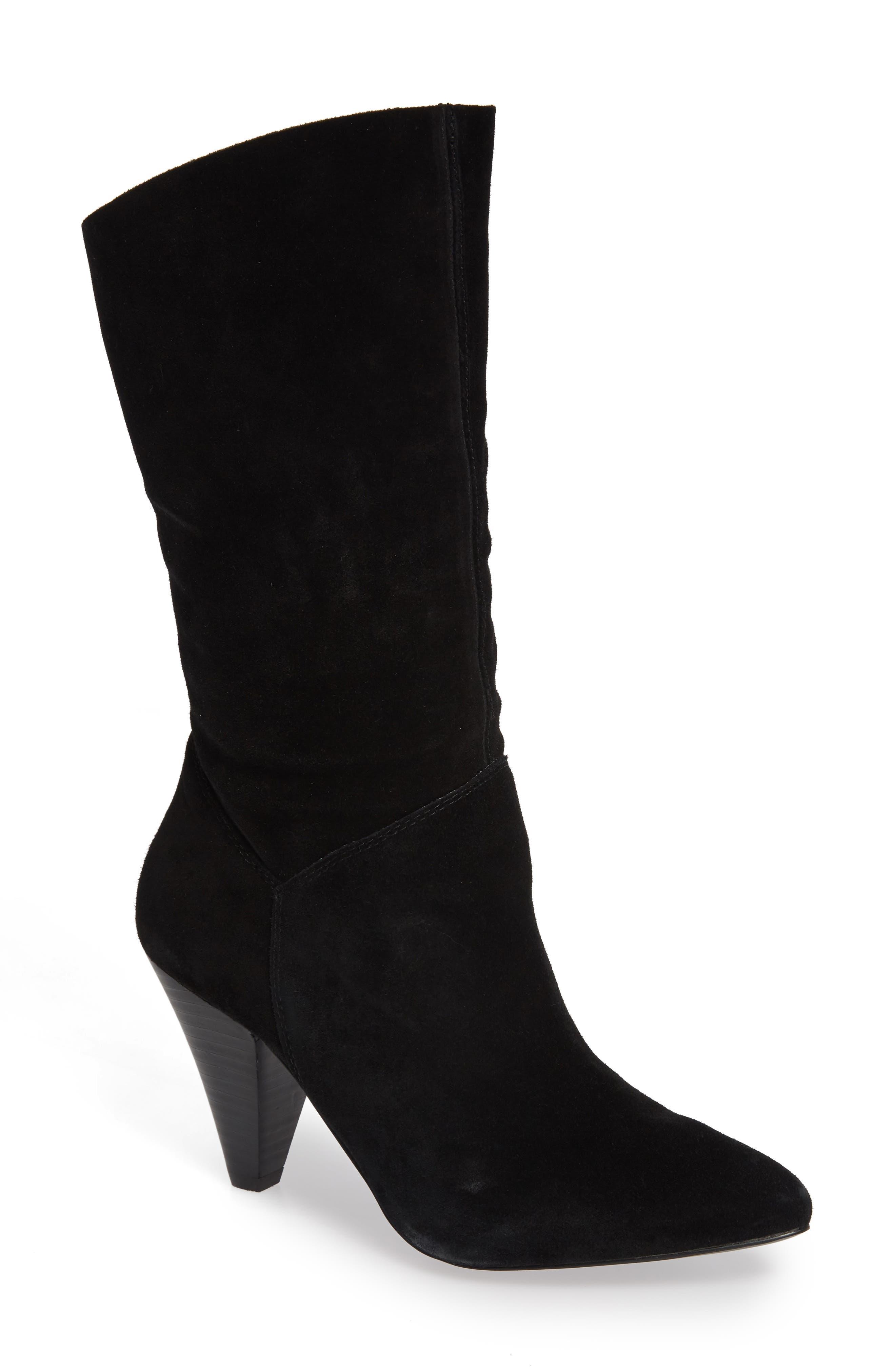Rein Boot,                         Main,                         color, BLACK SUEDE