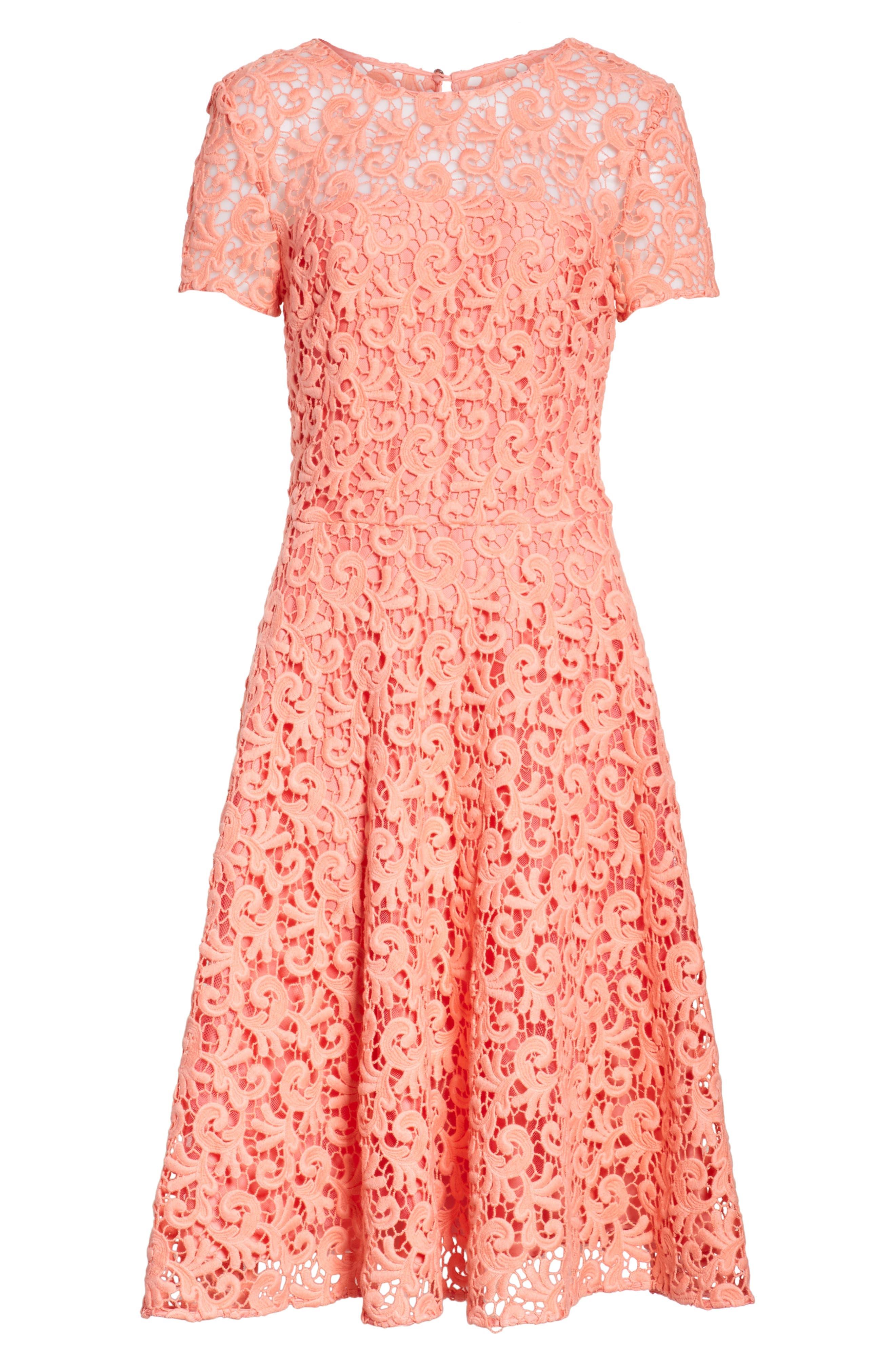 Paisley Guipure Lace Dress,                             Alternate thumbnail 6, color,                             950