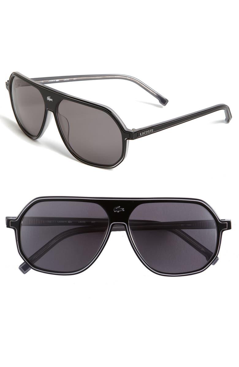 Lacoste Croc Logo Aviator Sunglasses  b5517a050188