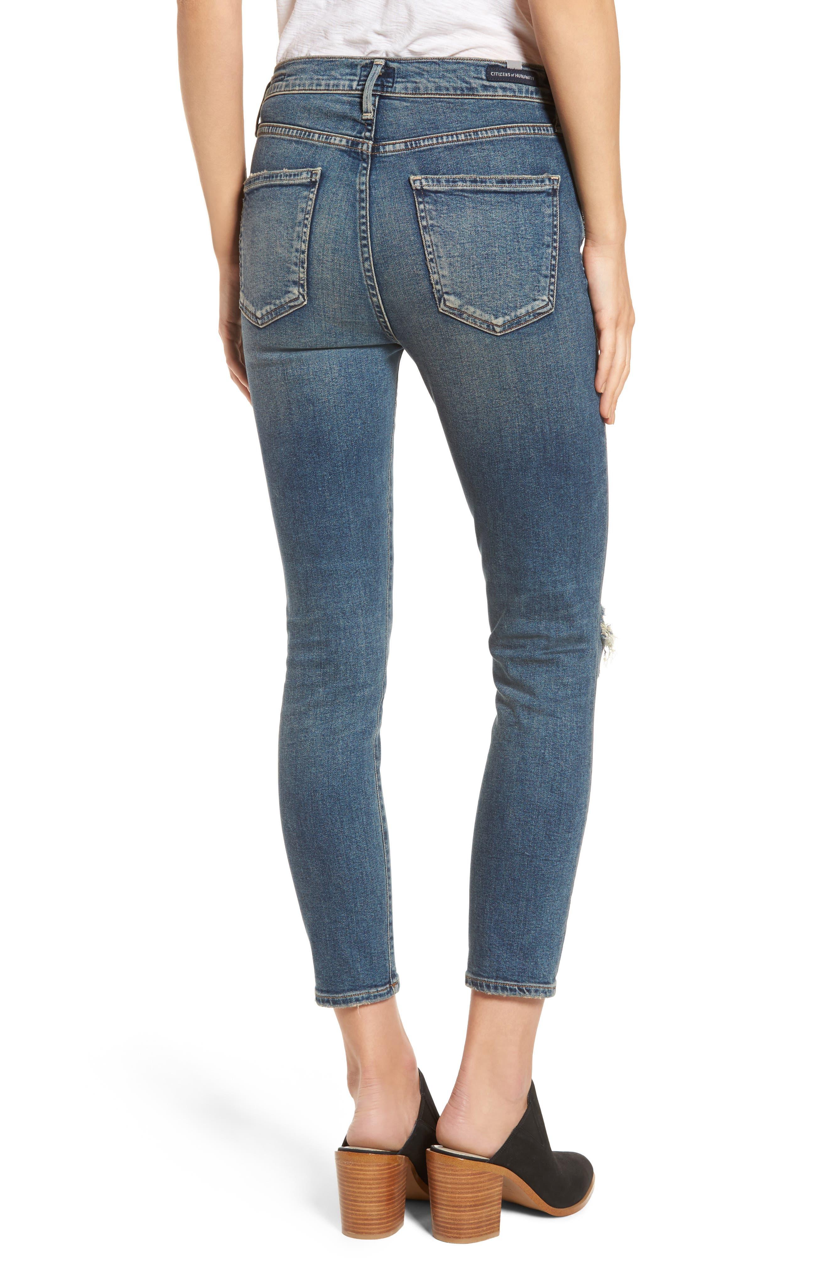 Rocket Crop Skinny Jeans,                             Alternate thumbnail 2, color,                             405