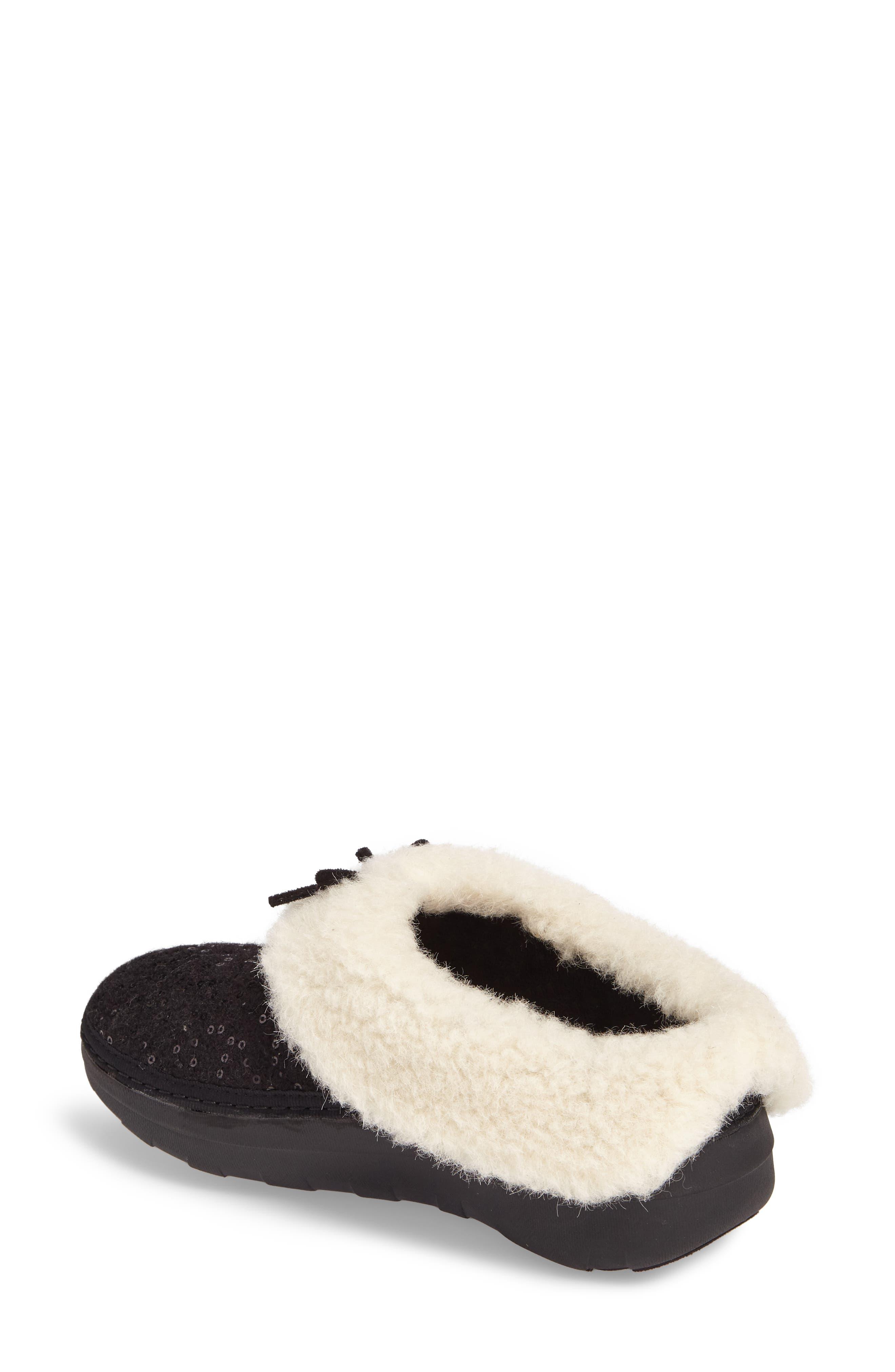 Loaff Snug Sequin Slipper,                             Alternate thumbnail 2, color,                             001