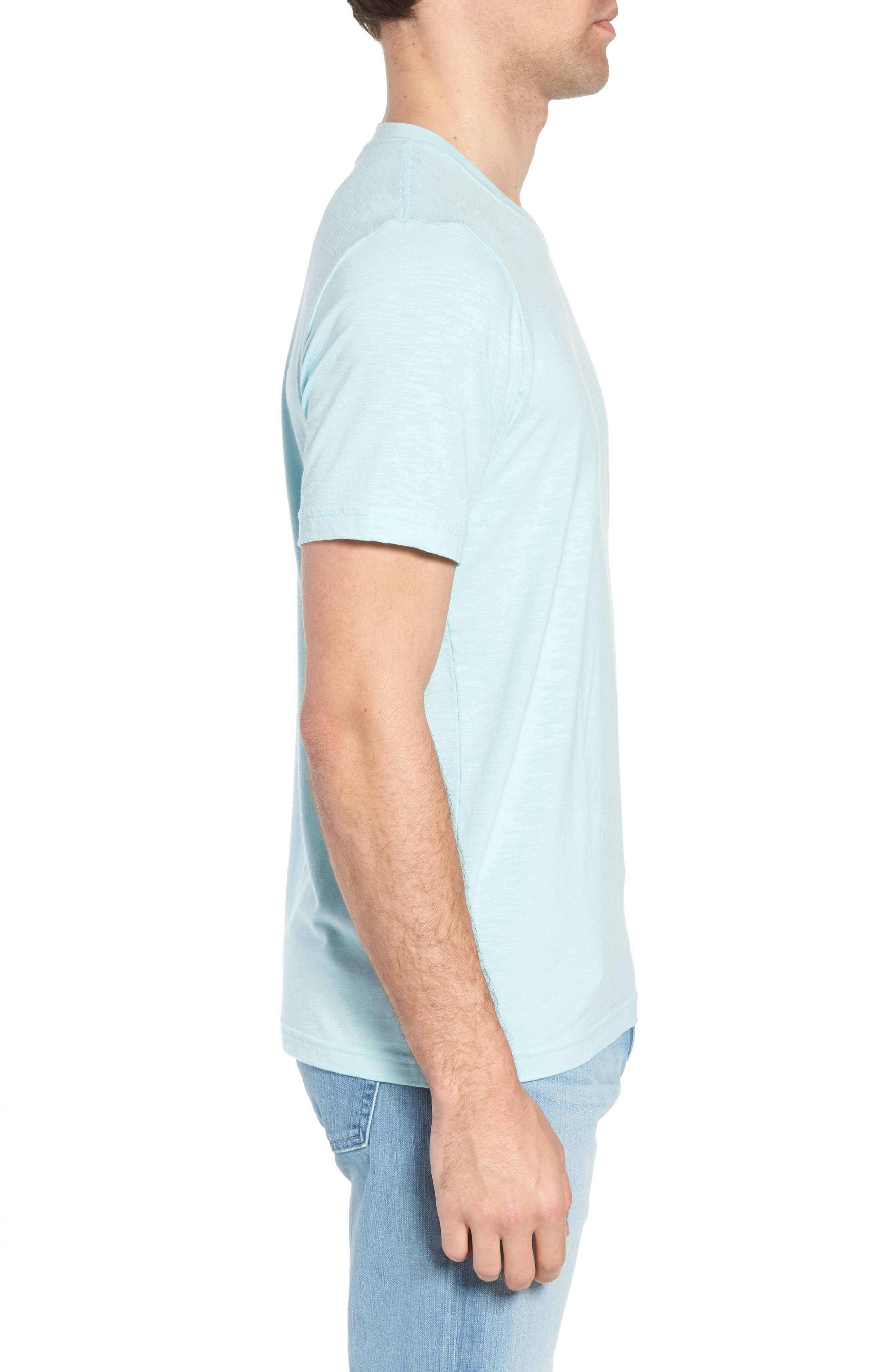 'Trumbull' Trim Fit Slubbed T-Shirt,                             Alternate thumbnail 3, color,                             PORCELAIN BLUE