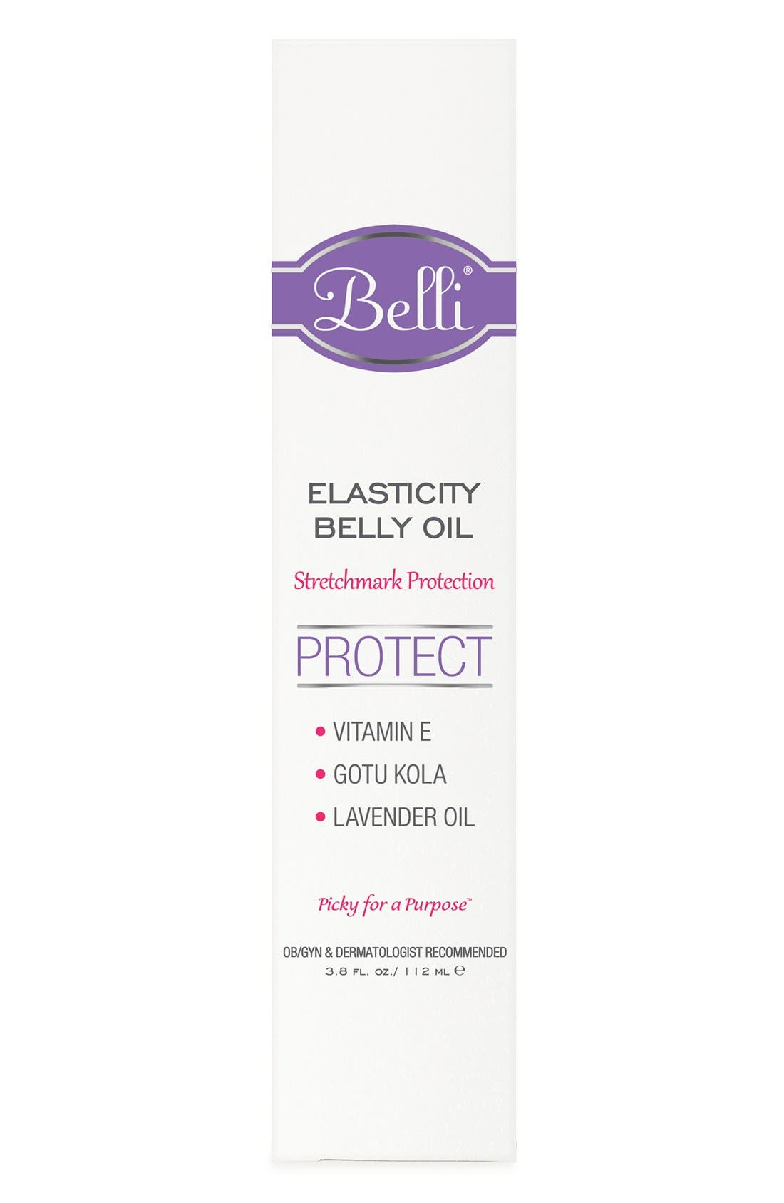 'Elasticity' Belly Oil for Stretch Mark Protection,                             Alternate thumbnail 4, color,                             WHITE