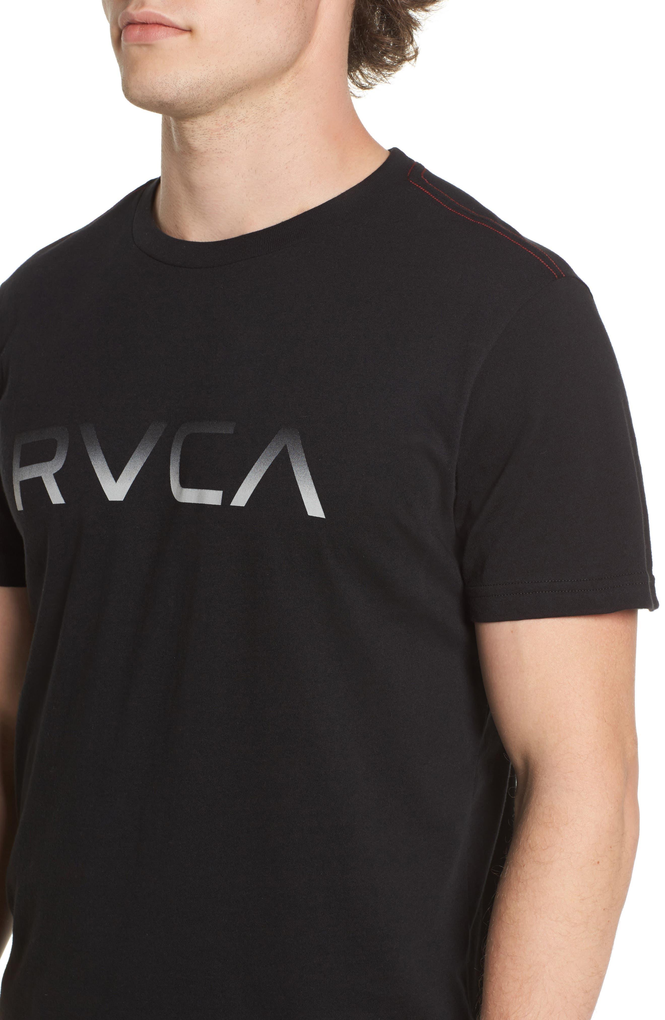 Big RVCA Gradient Logo T-Shirt,                             Alternate thumbnail 7, color,