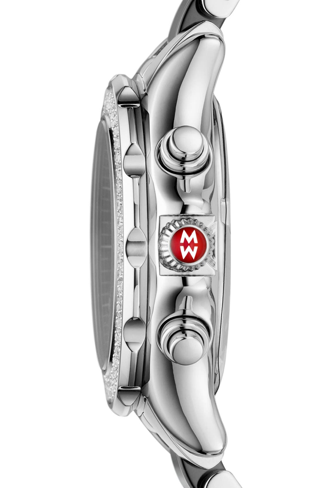 'Tahitian' Stainless Steel Ceramic Diamond Watch, 35mm,                             Alternate thumbnail 2, color,                             001