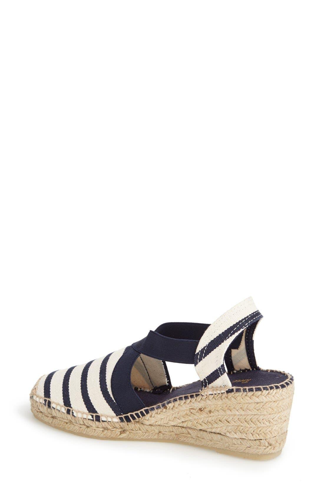 'Tarbes' Espadrille Wedge Sandal,                             Alternate thumbnail 2, color,                             BLUE