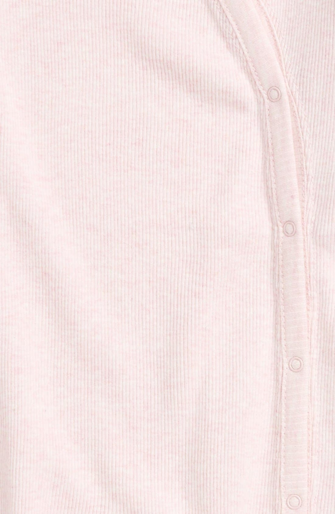NORDSTROM BABY,                             Rib Knit Footie,                             Alternate thumbnail 2, color,                             PINK BABY HEATHER