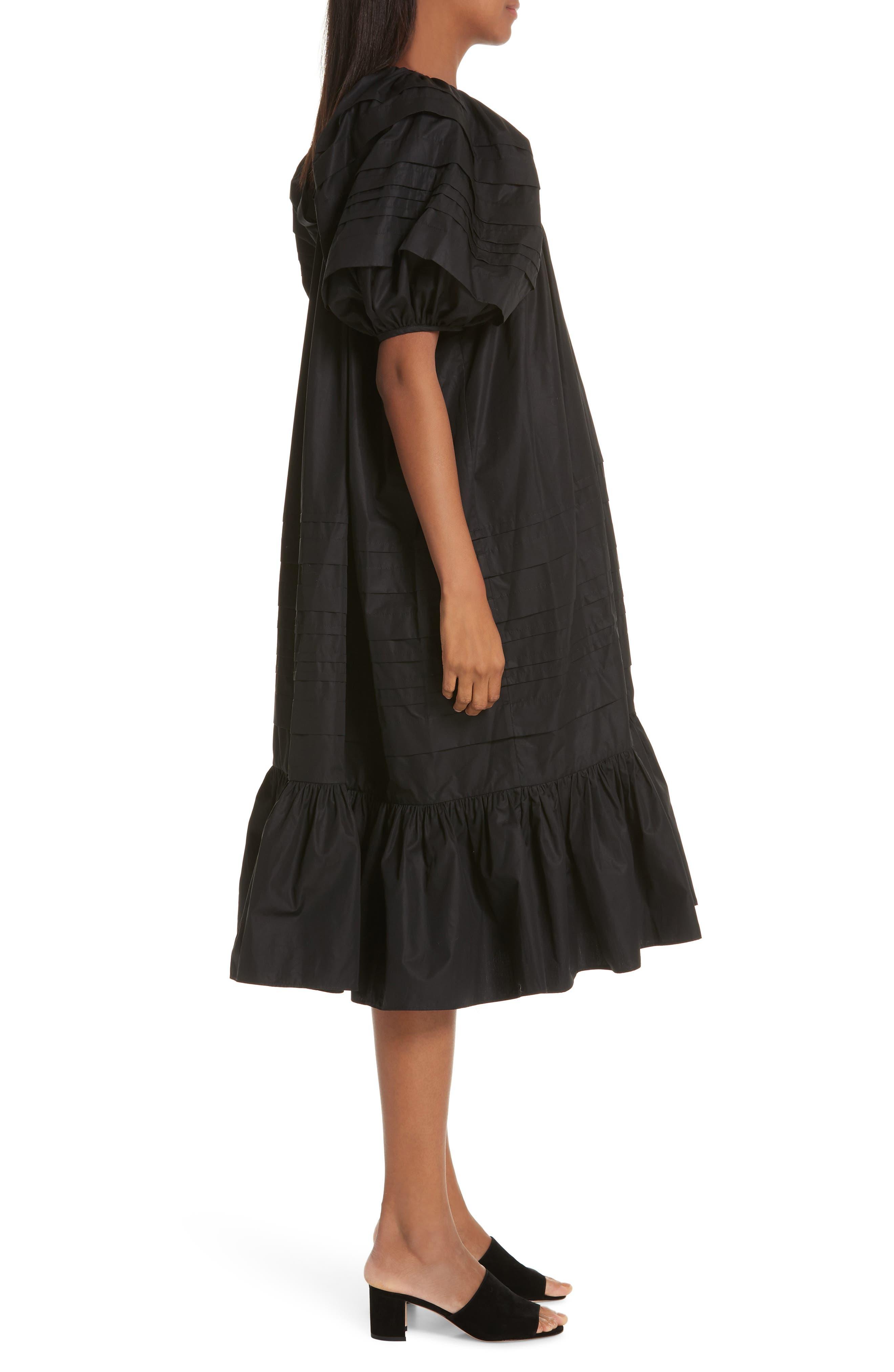 CECILIE BAHNSEN,                             Phoebe Dress,                             Alternate thumbnail 4, color,                             BLACK