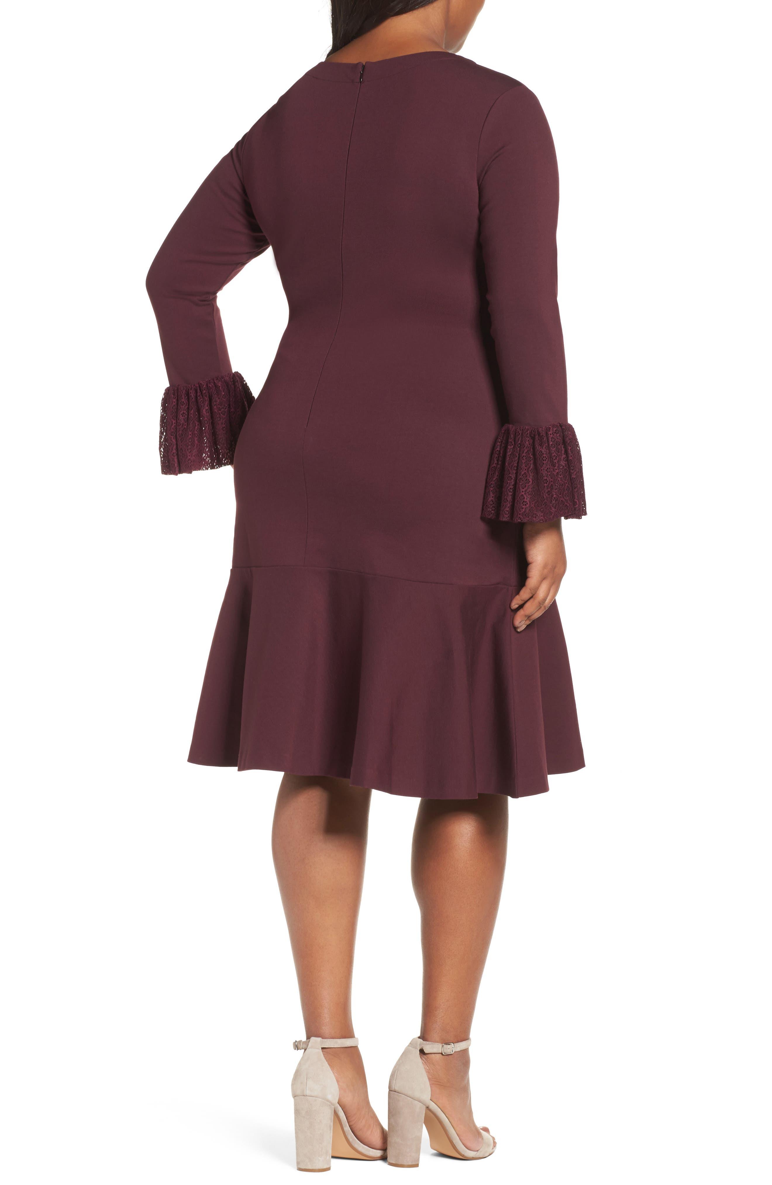 Flounce Hem Dress,                             Alternate thumbnail 6, color,