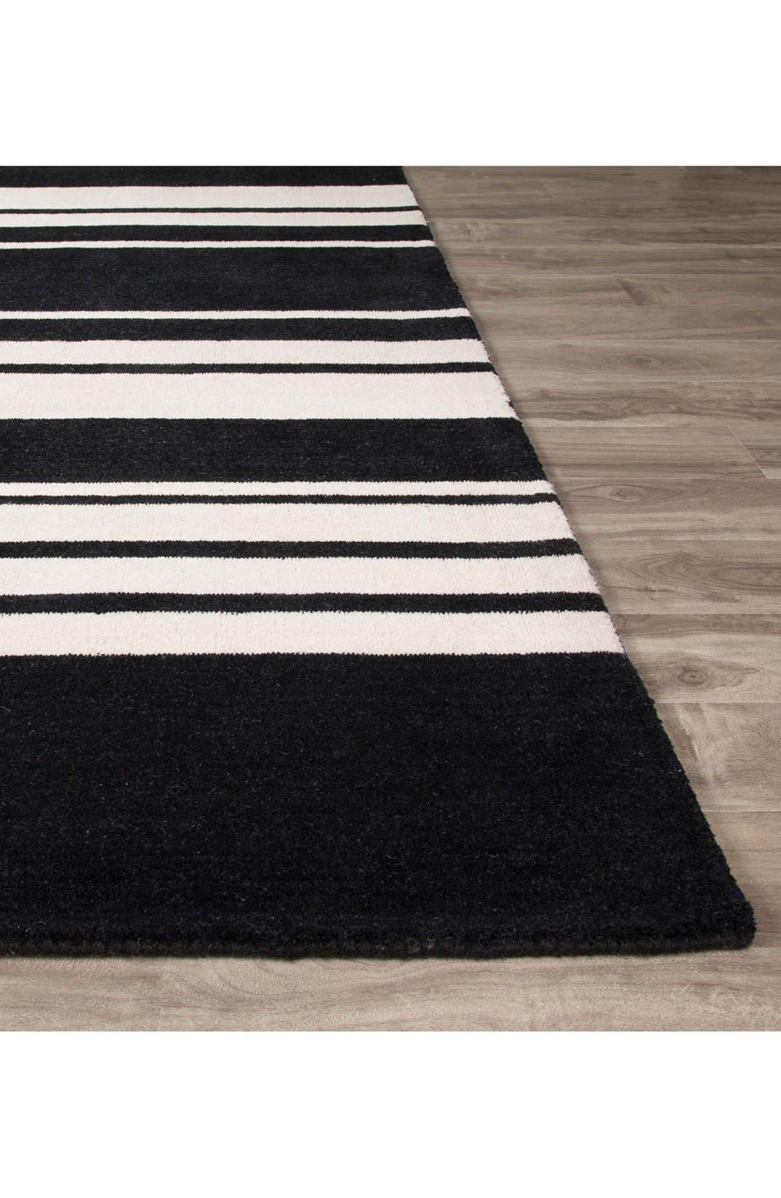 'astor stripe' wool rug,                             Alternate thumbnail 4, color,                             001
