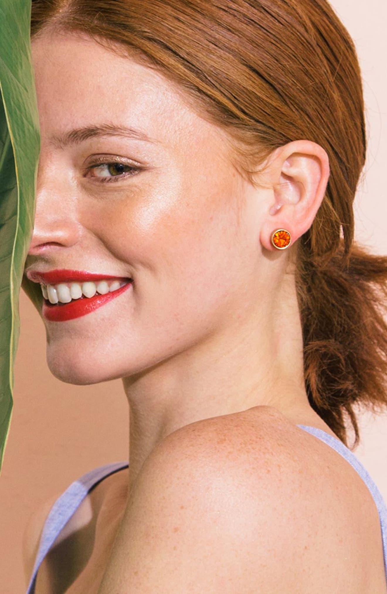 Bezel Set Stud Earrings,                             Main thumbnail 10, color,