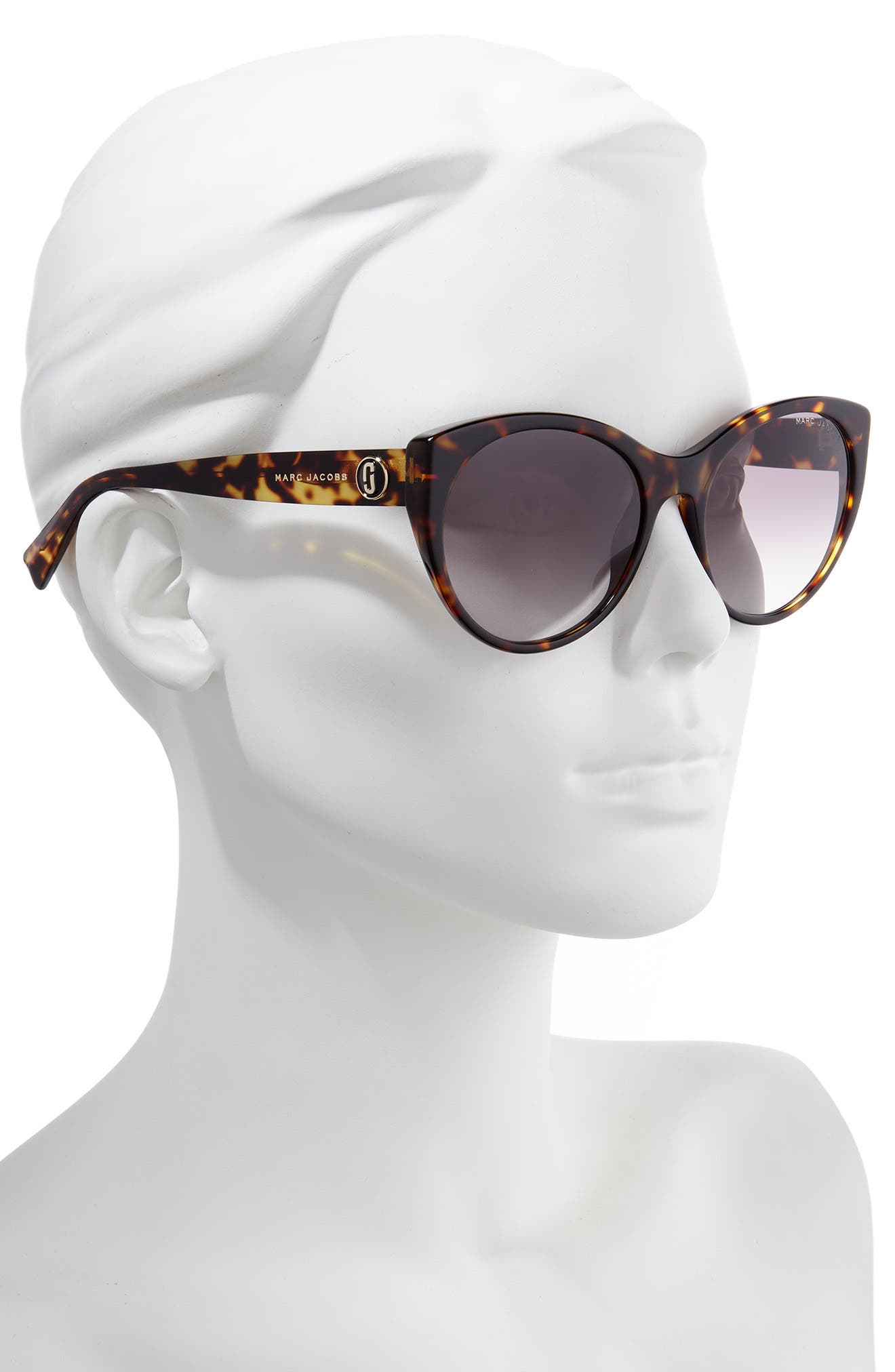 MARC JACOBS,                             57mm Round Sunglasses,                             Alternate thumbnail 2, color,                             BLACK DARK HAVANA