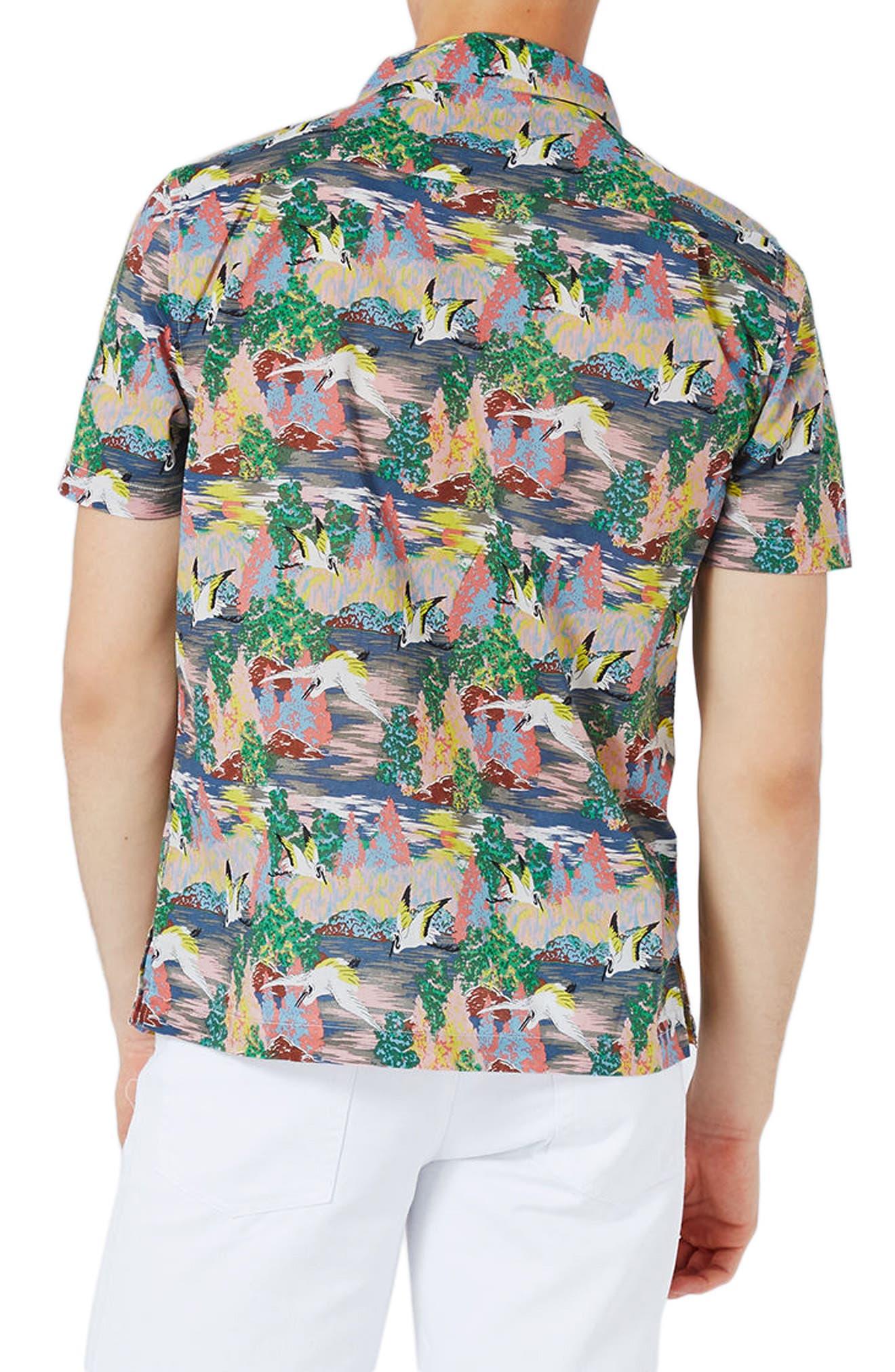 Heron Print Shirt,                             Alternate thumbnail 2, color,                             400