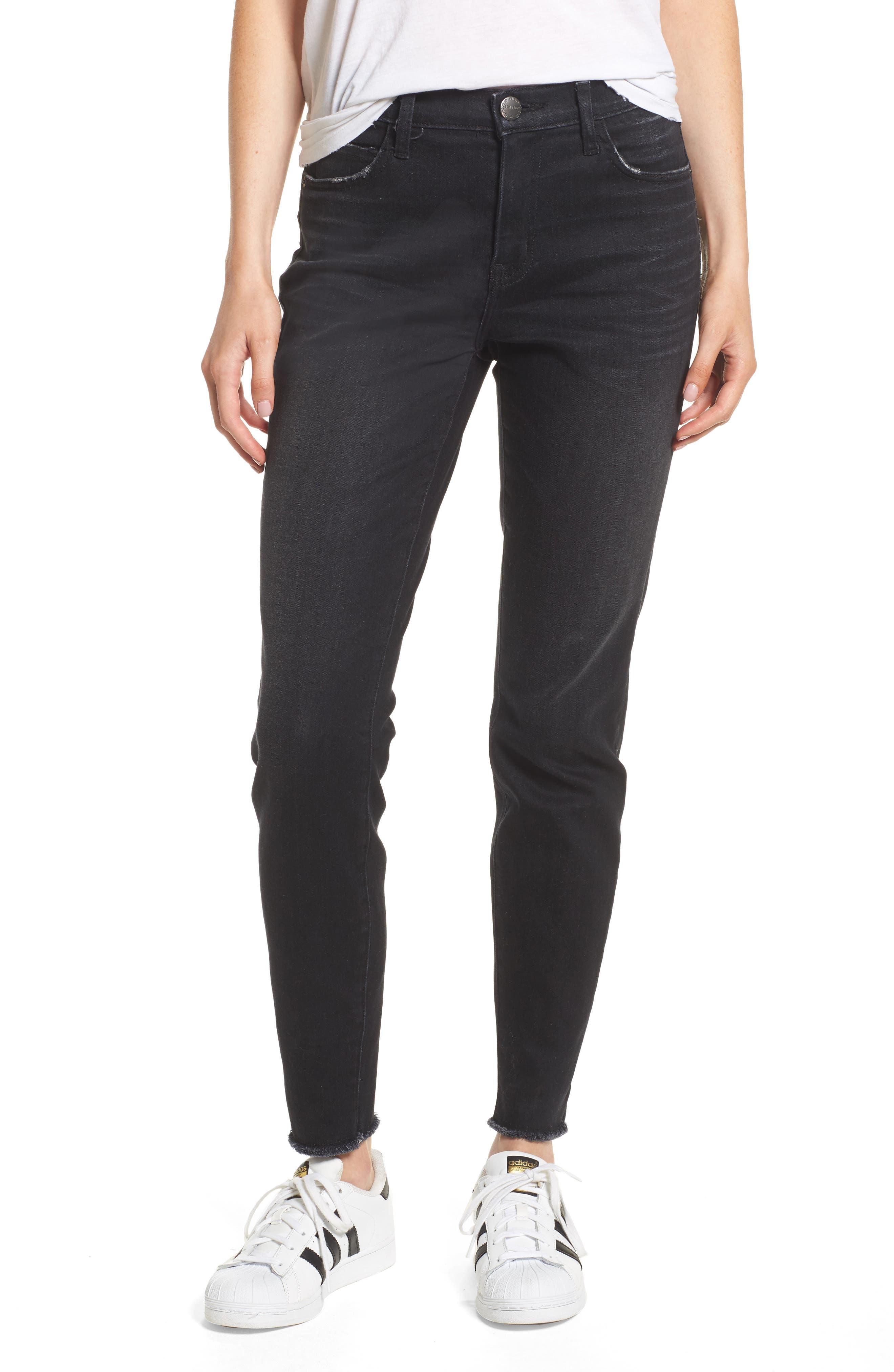 The Stiletto High Waist Ankle Skinny Jeans,                             Main thumbnail 1, color,                             YUMA CLEAN