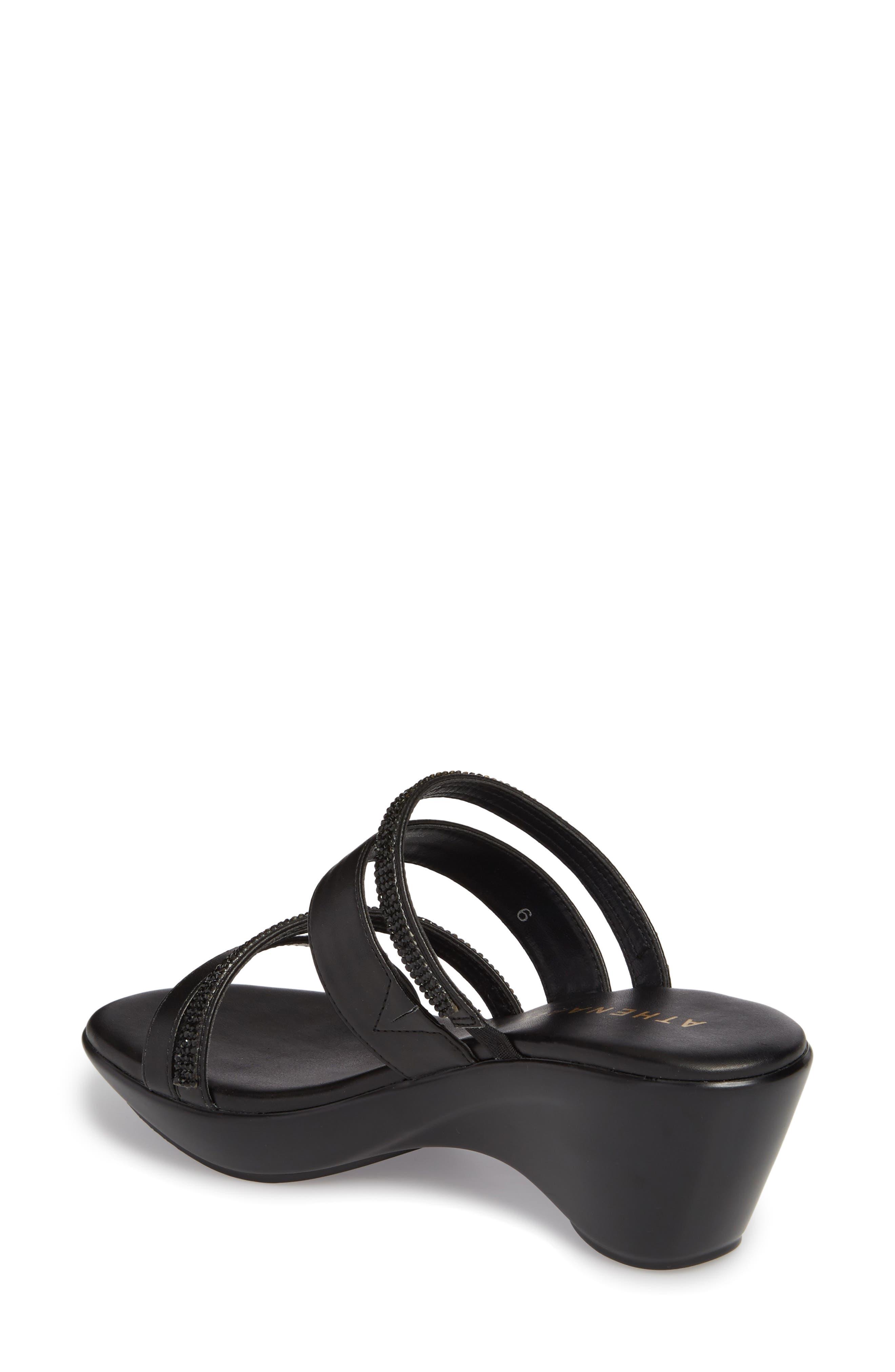 Kozima Embellished Sandal,                             Alternate thumbnail 2, color,                             BLACK FABRIC