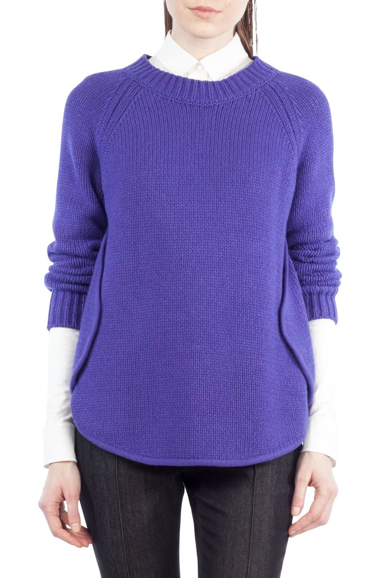 Quadrant Circle Cashmere Blend Pullover,                             Main thumbnail 2, color,