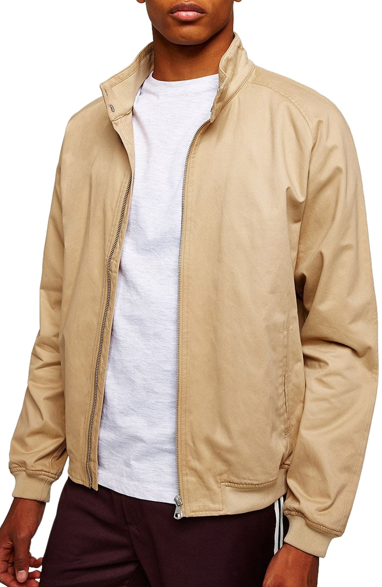 Harrington Jacket,                             Main thumbnail 1, color,                             STONE