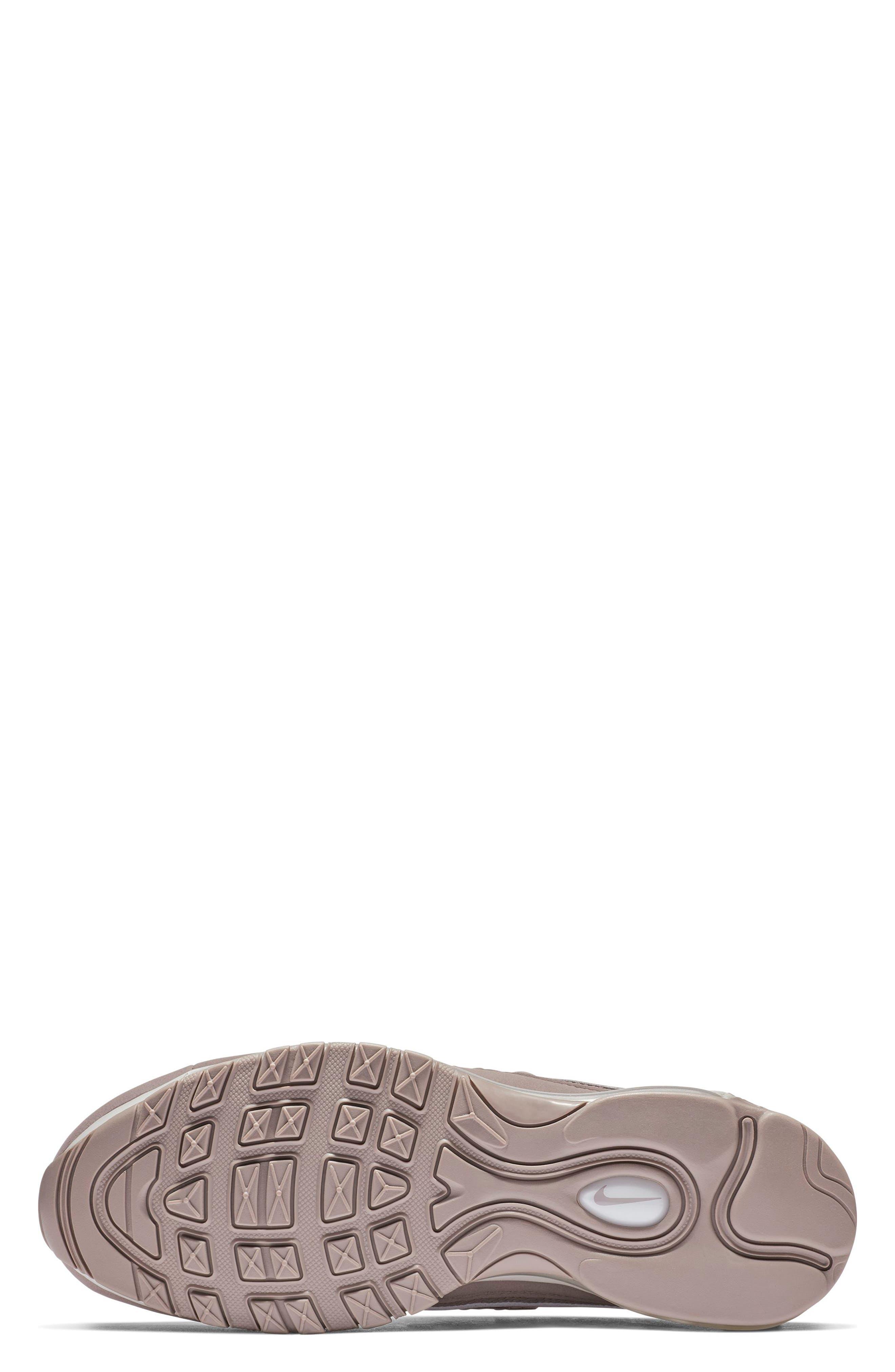 Air Max 98 Sneaker,                             Alternate thumbnail 5, color,                             PUMICE/ PLUM CHALK/ WHITE