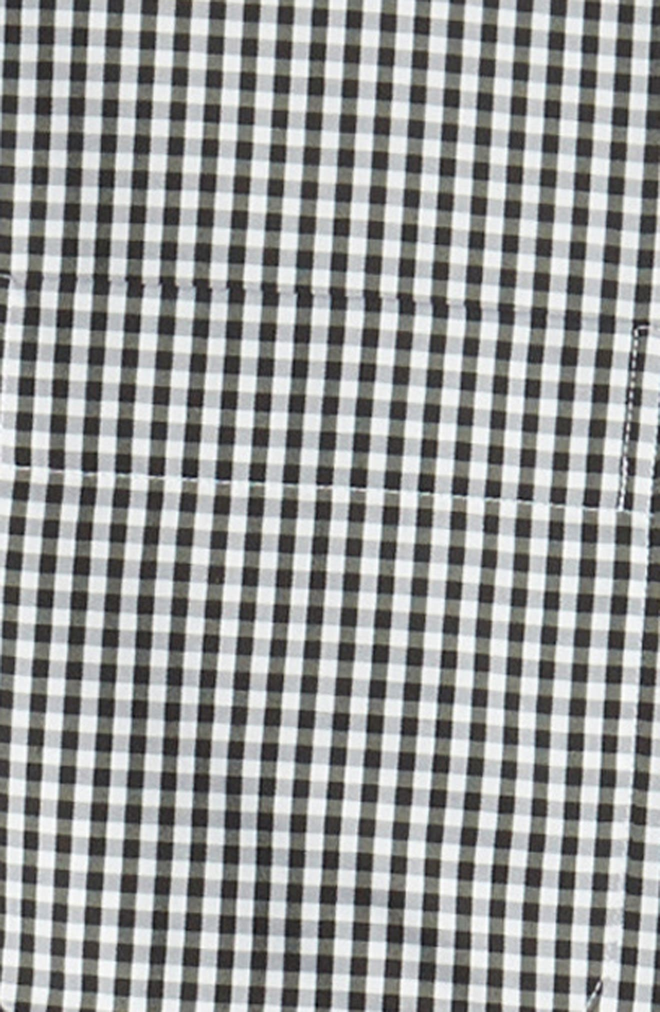 Crown Soft Gingham Regular Fit Sport Shirt,                             Alternate thumbnail 6, color,                             BLACK