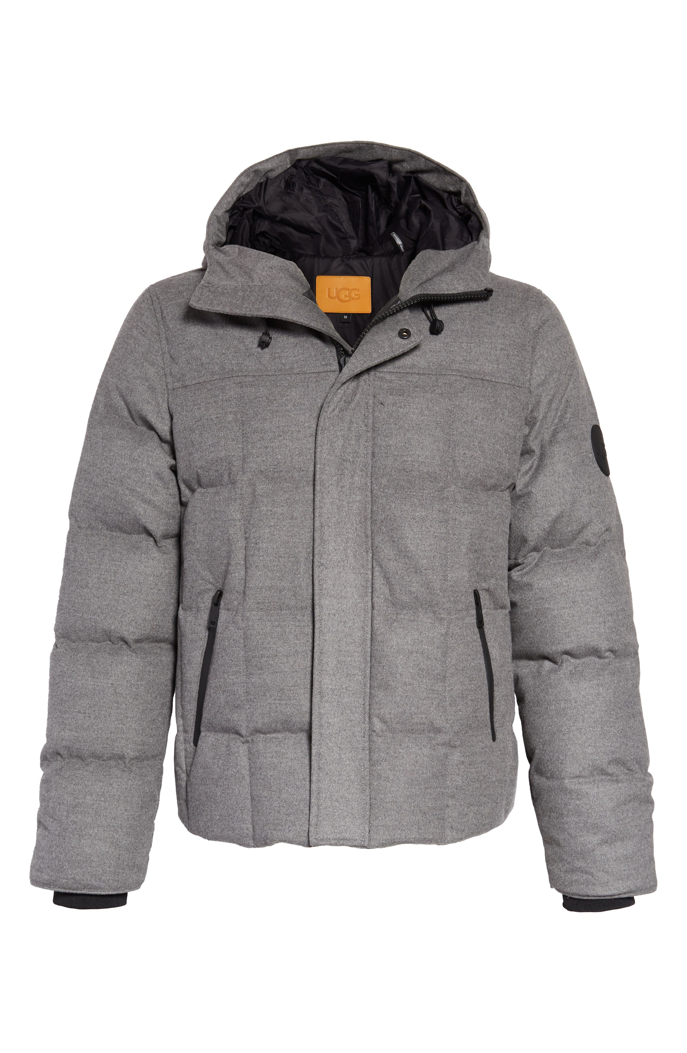Cadin Technical Water Resistant Down Parka,                             Alternate thumbnail 6, color,                             MEDIUM HEATHER GREY