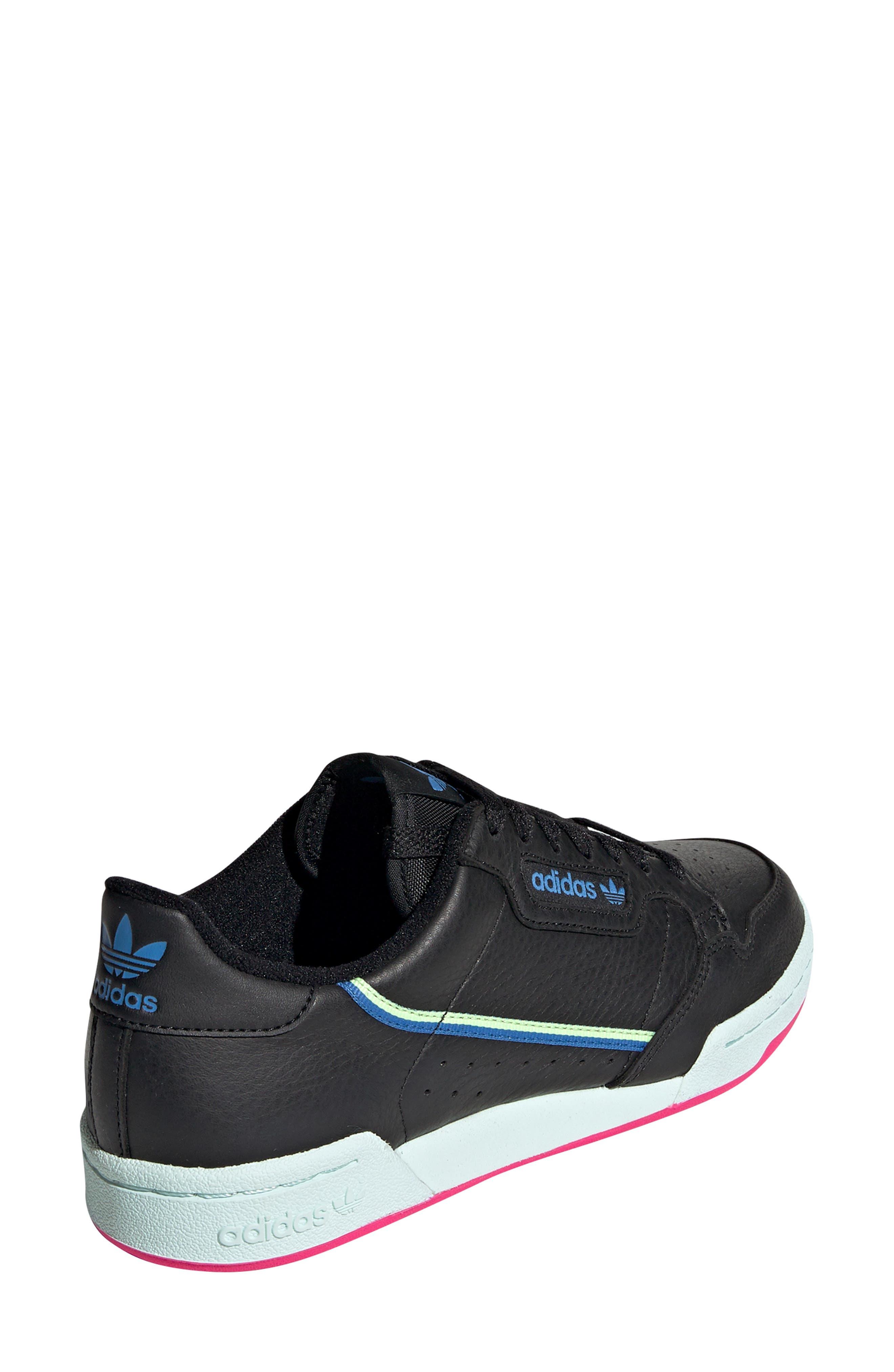 ADIDAS,                             Continental 80 Sneaker,                             Alternate thumbnail 2, color,                             BLACK/ HI-RES YELLOW/ BLUE