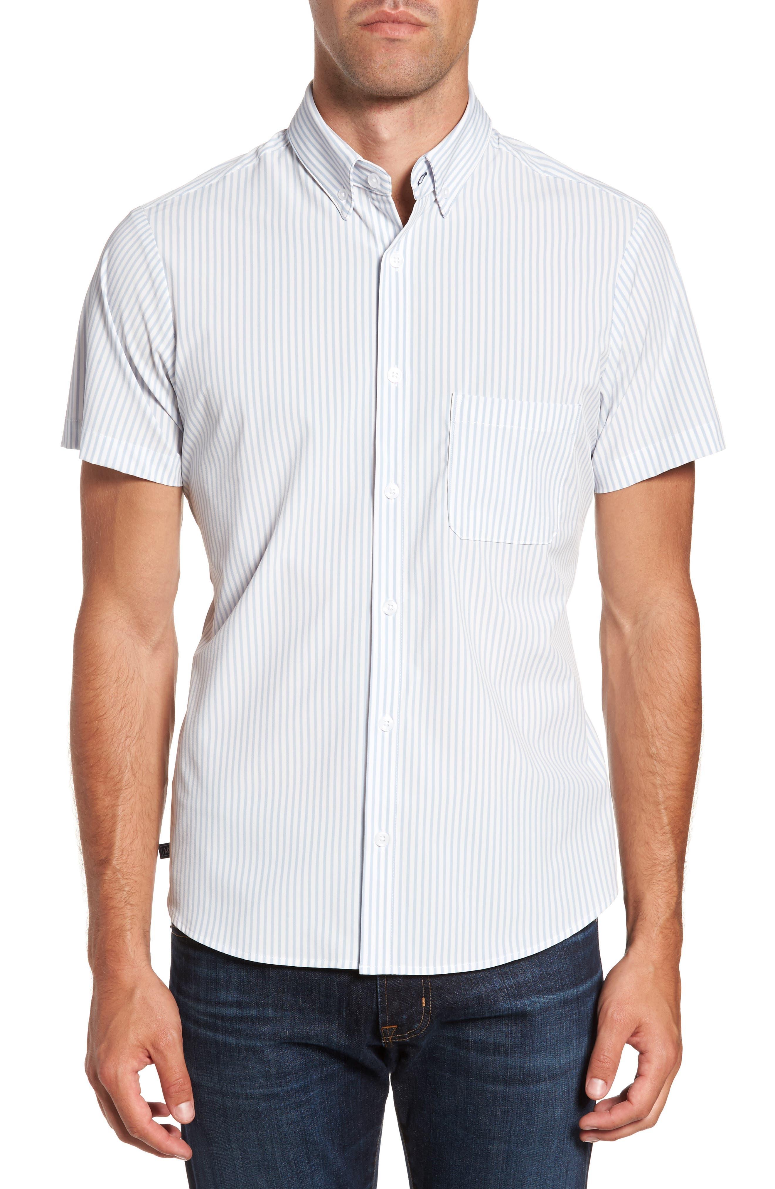 St. Elias Stripe Sport Shirt,                         Main,                         color, 100