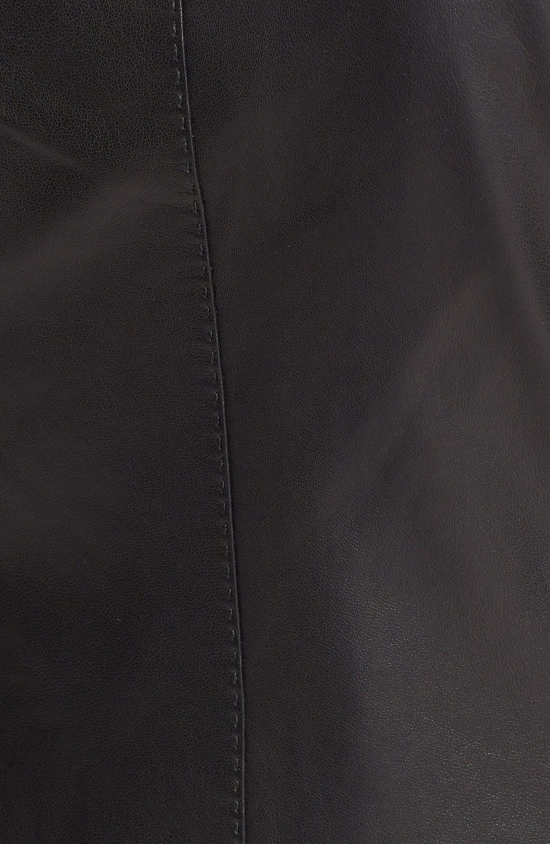 Leather Scuba Jacket,                             Alternate thumbnail 3, color,                             001