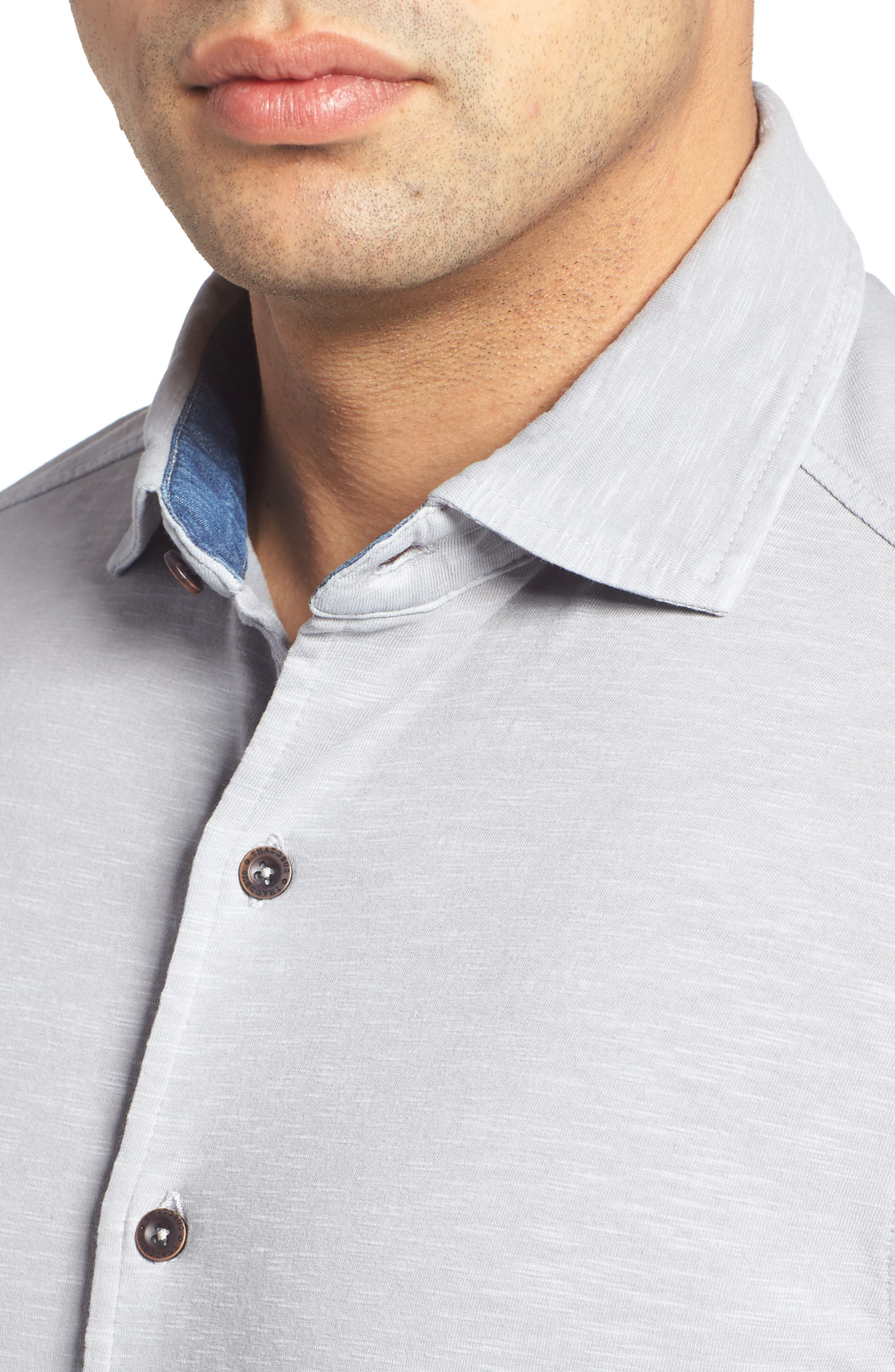 McAdams Slub Jersey Sport Shirt,                             Alternate thumbnail 4, color,                             020