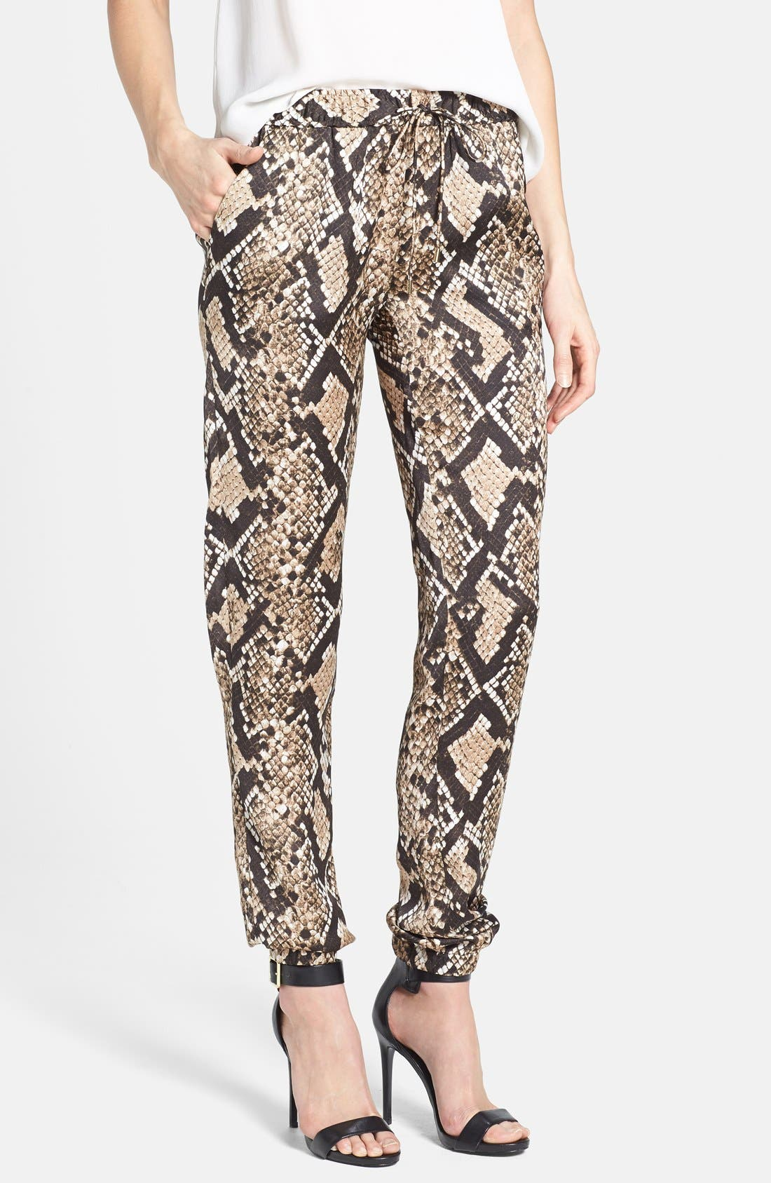 Snakeskin Print Track Pants,                             Main thumbnail 1, color,                             249