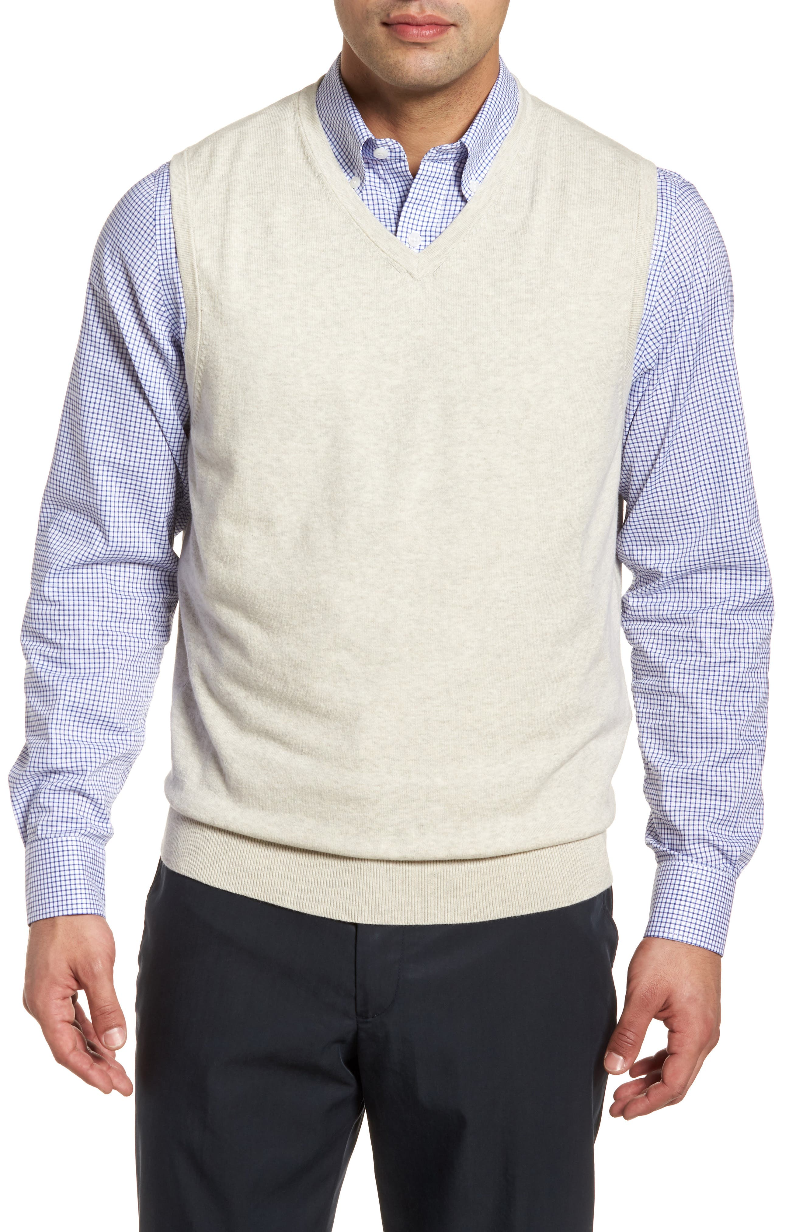 Lakemont Classic Fit Sweater Vest, Main, color, OATMEAL HEATHER