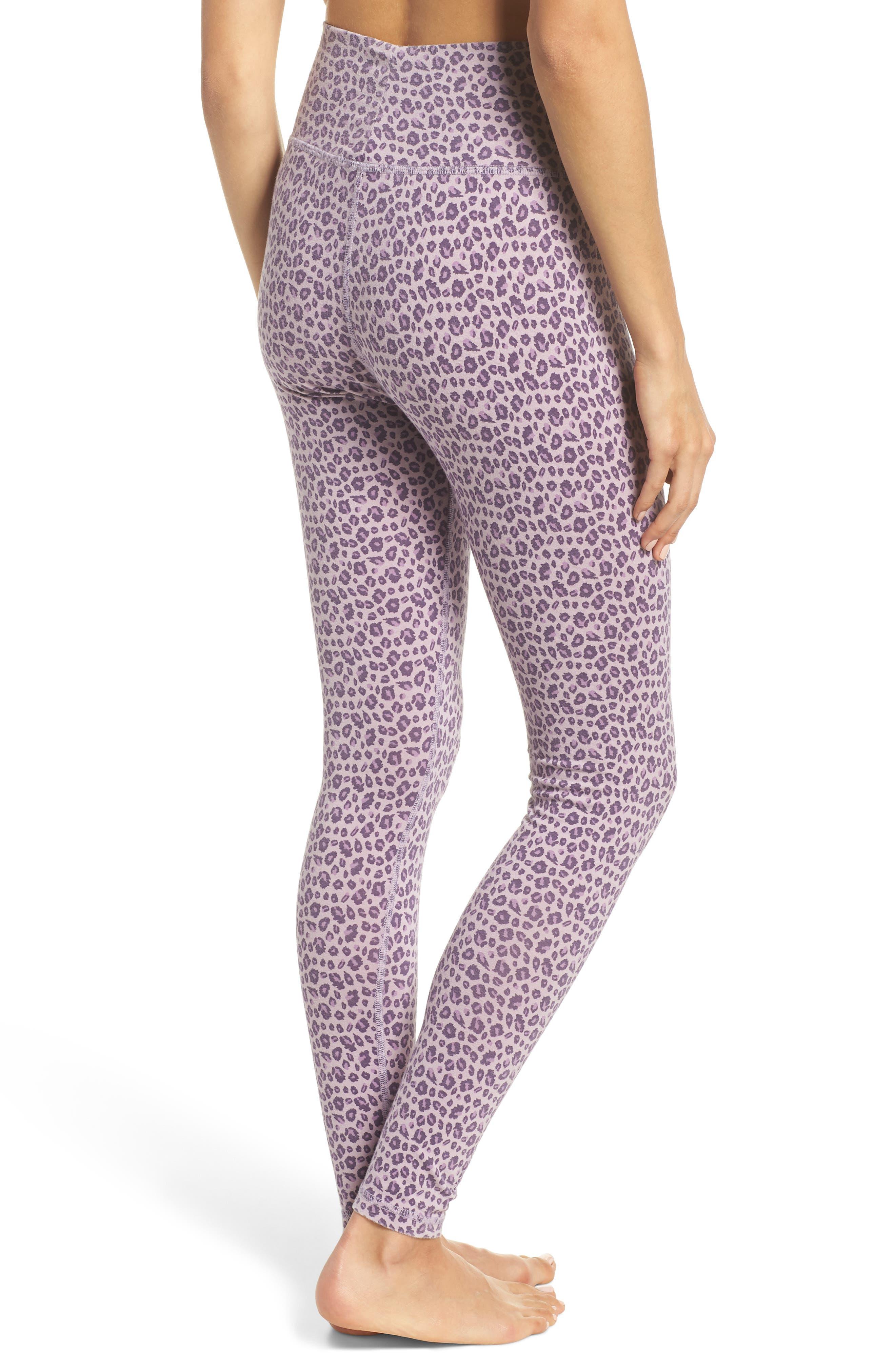 Leopard Print Leggings,                             Alternate thumbnail 2, color,                             LILAC LEOPARD