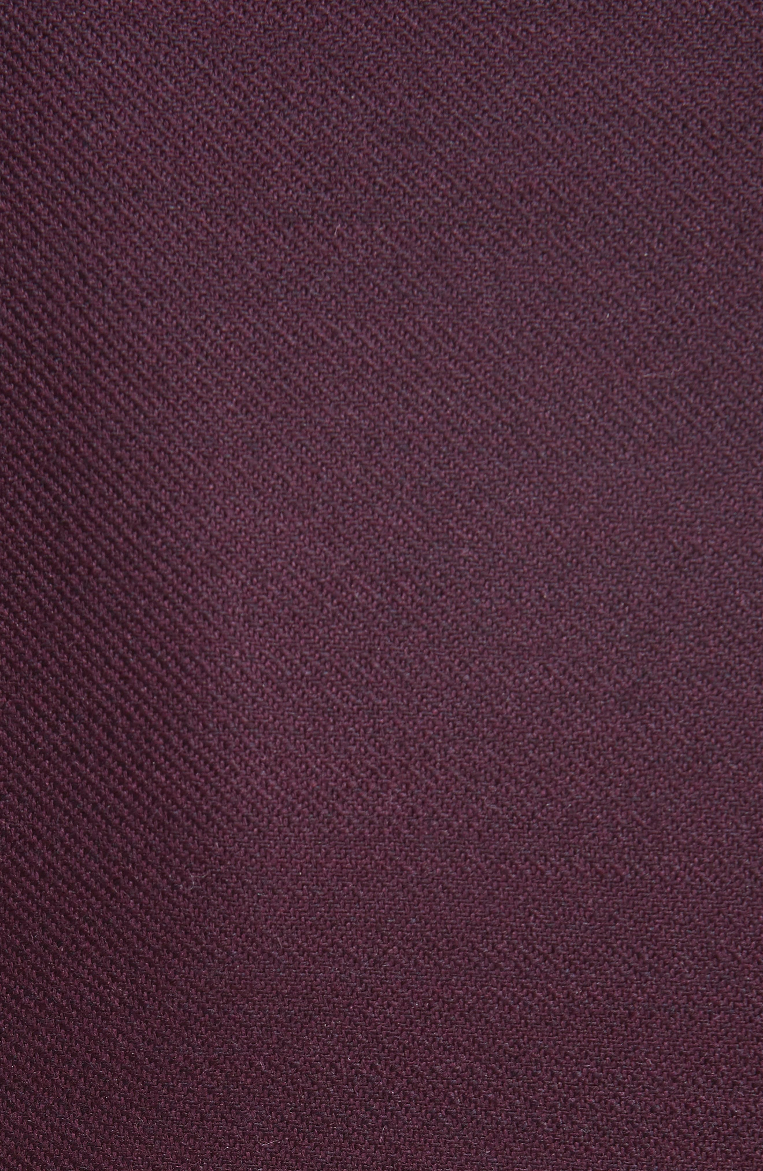 ADAM LIPPES,                             Double Face Wool Sheath Dress,                             Alternate thumbnail 5, color,                             BURGUNDY/ PINK