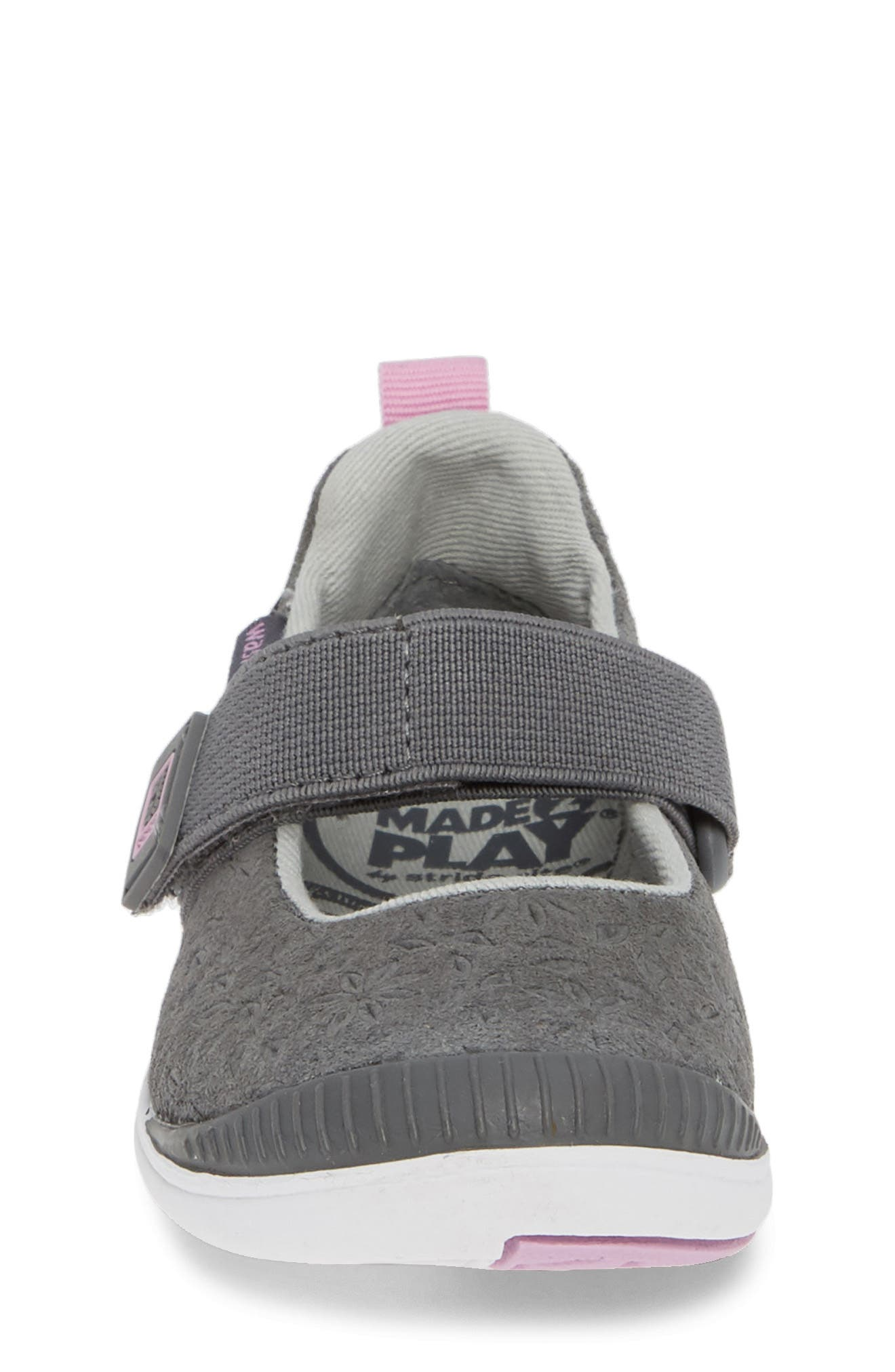 Made2Play<sup>®</sup> Lia Washable Mary Jane Sneaker,                             Alternate thumbnail 4, color,                             GREY