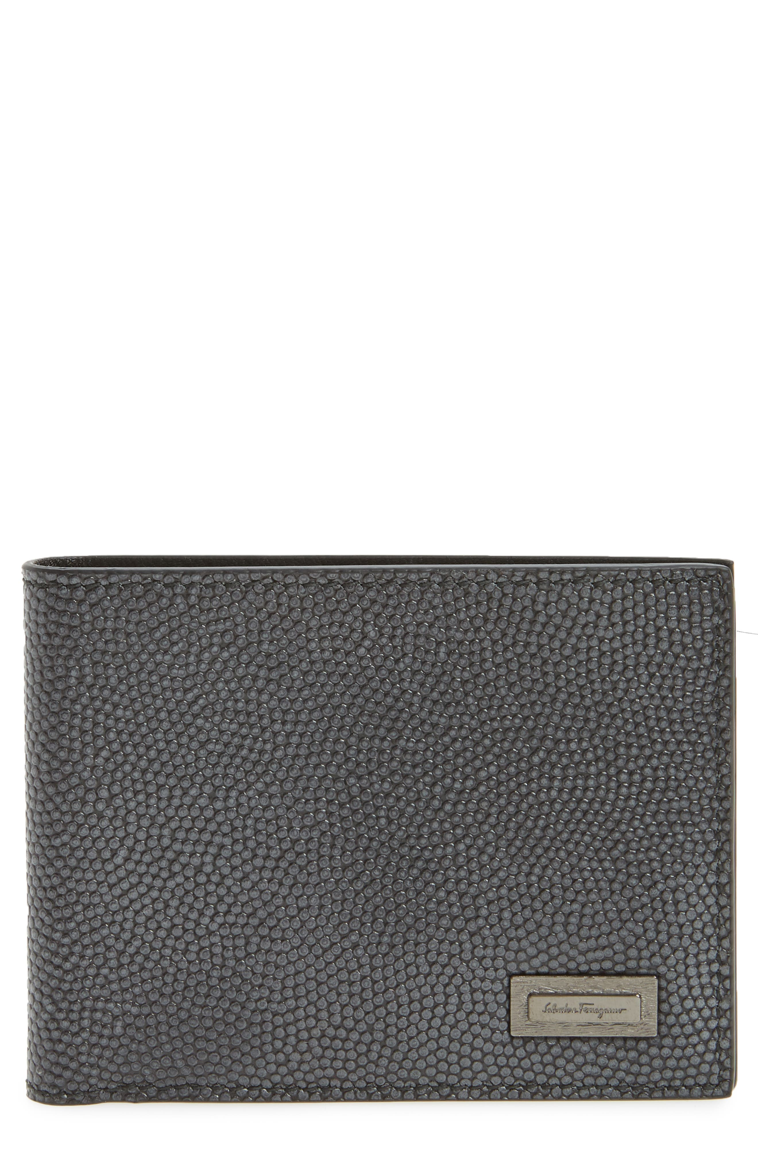 Leather Bifold Leather,                         Main,                         color, 070