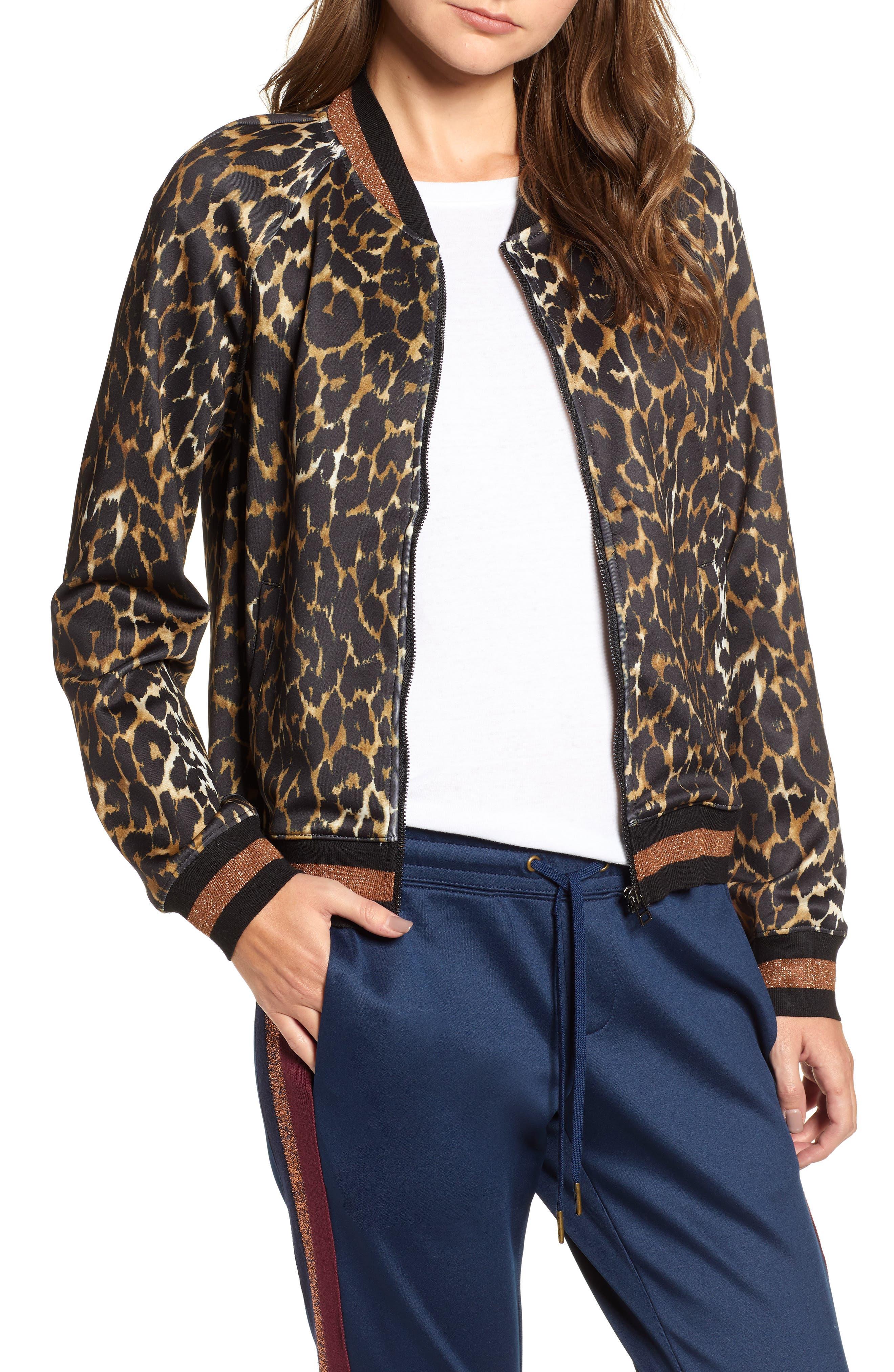 Leopard Track Jacket, Main, color, 234